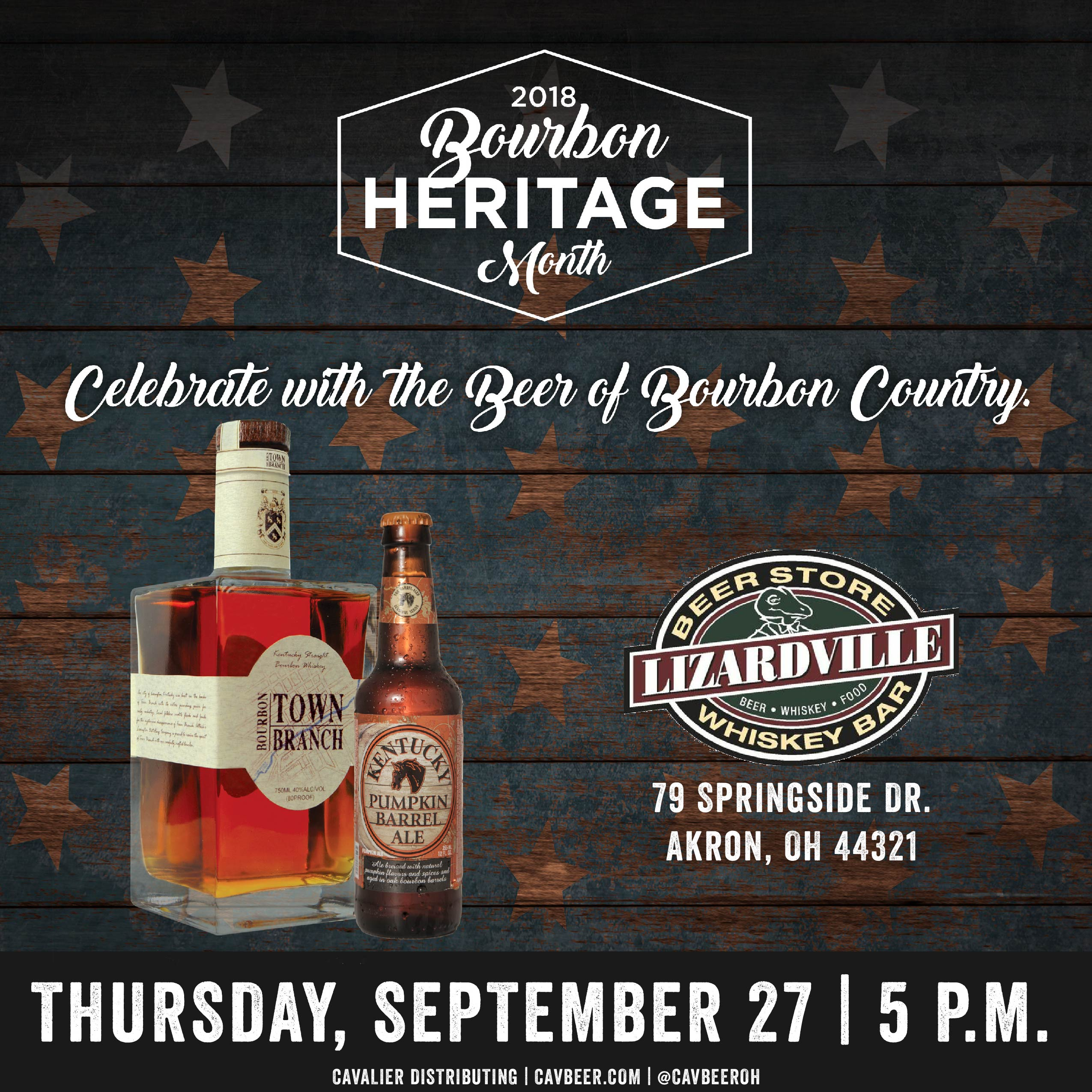 Celebrate Bourbon Heritage Month with Lexington Brewing and Distilling Co. @ Lizardville – Akron