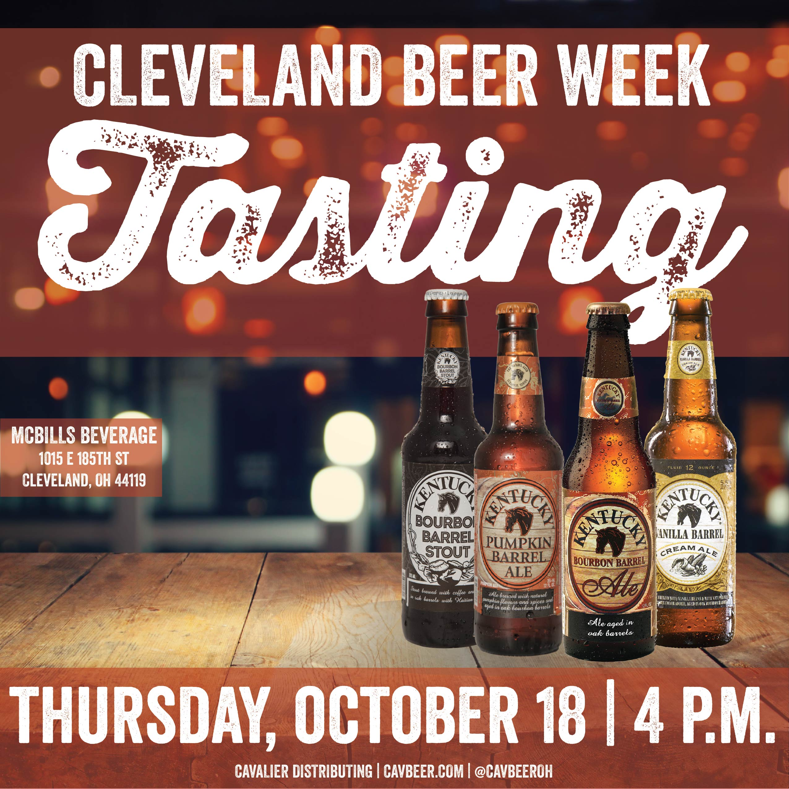 Cleveland Beer Week – Kentucky Ales Beer Tasting @ McBills Beverage