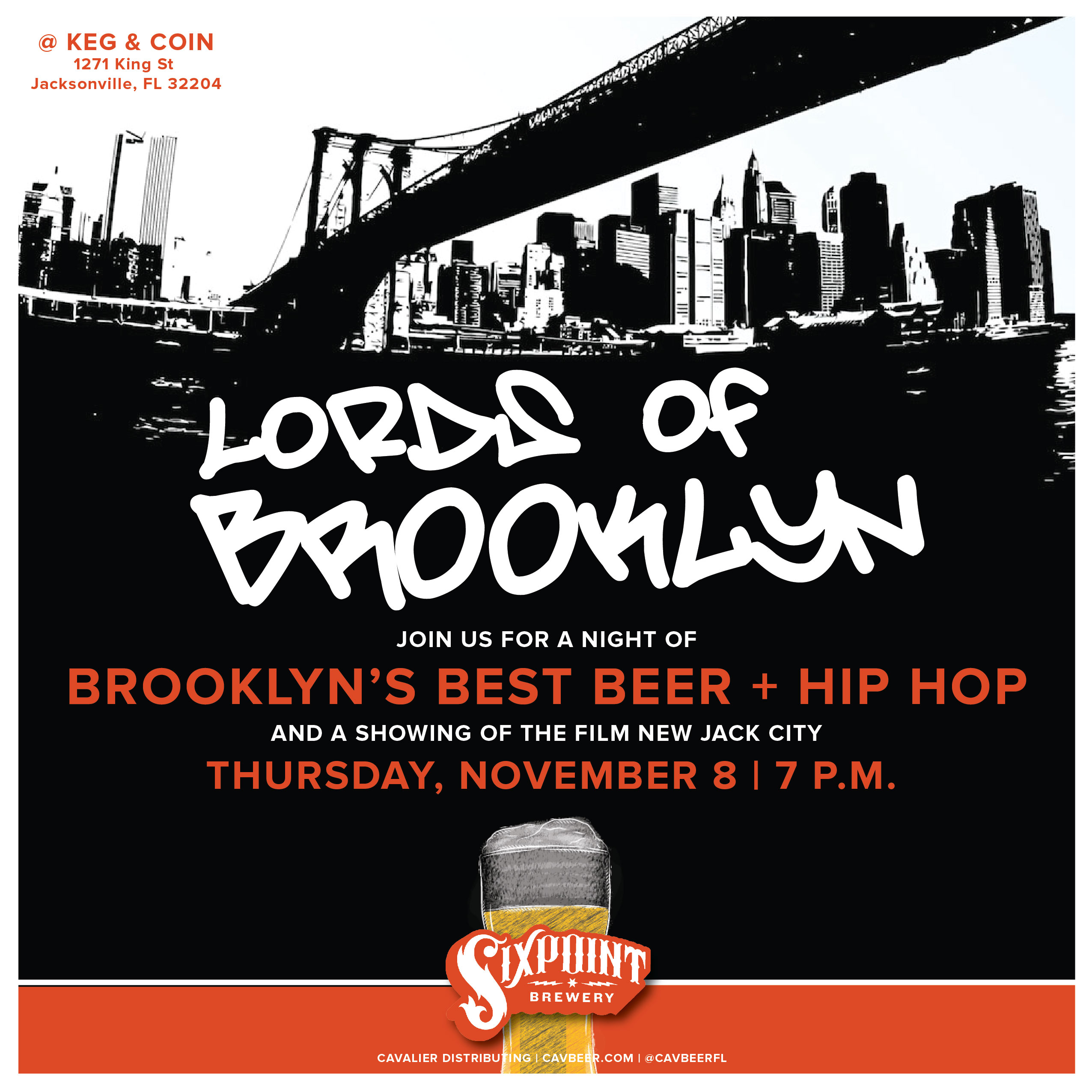 Lords of Brooklyn @ Keg & Coin featuring Sixpoint Brewery