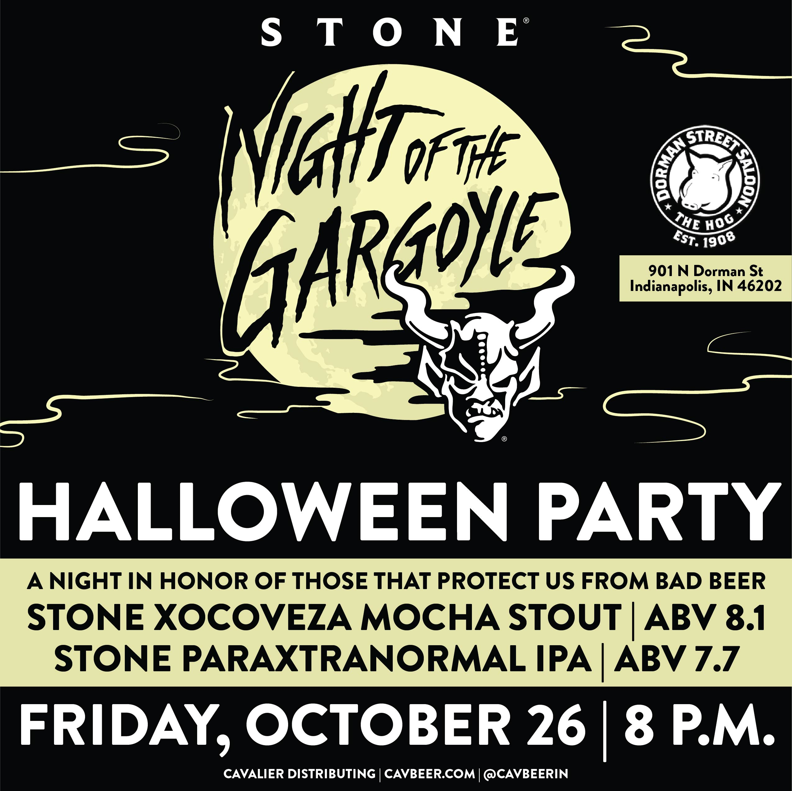 Stone Brewing's Halloween Party at Dorman Street Saloon
