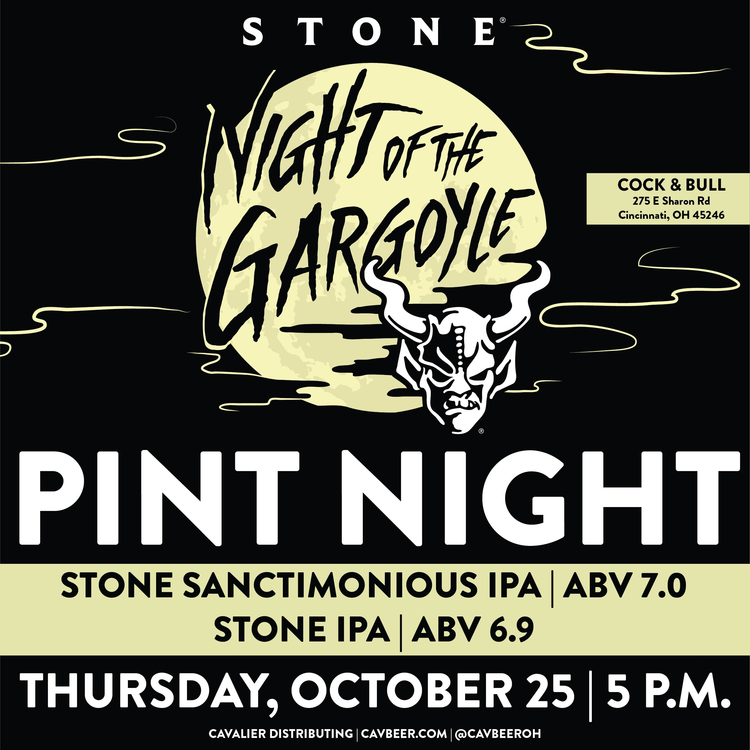 Stone Brewing Pint Night at Cock & Bull