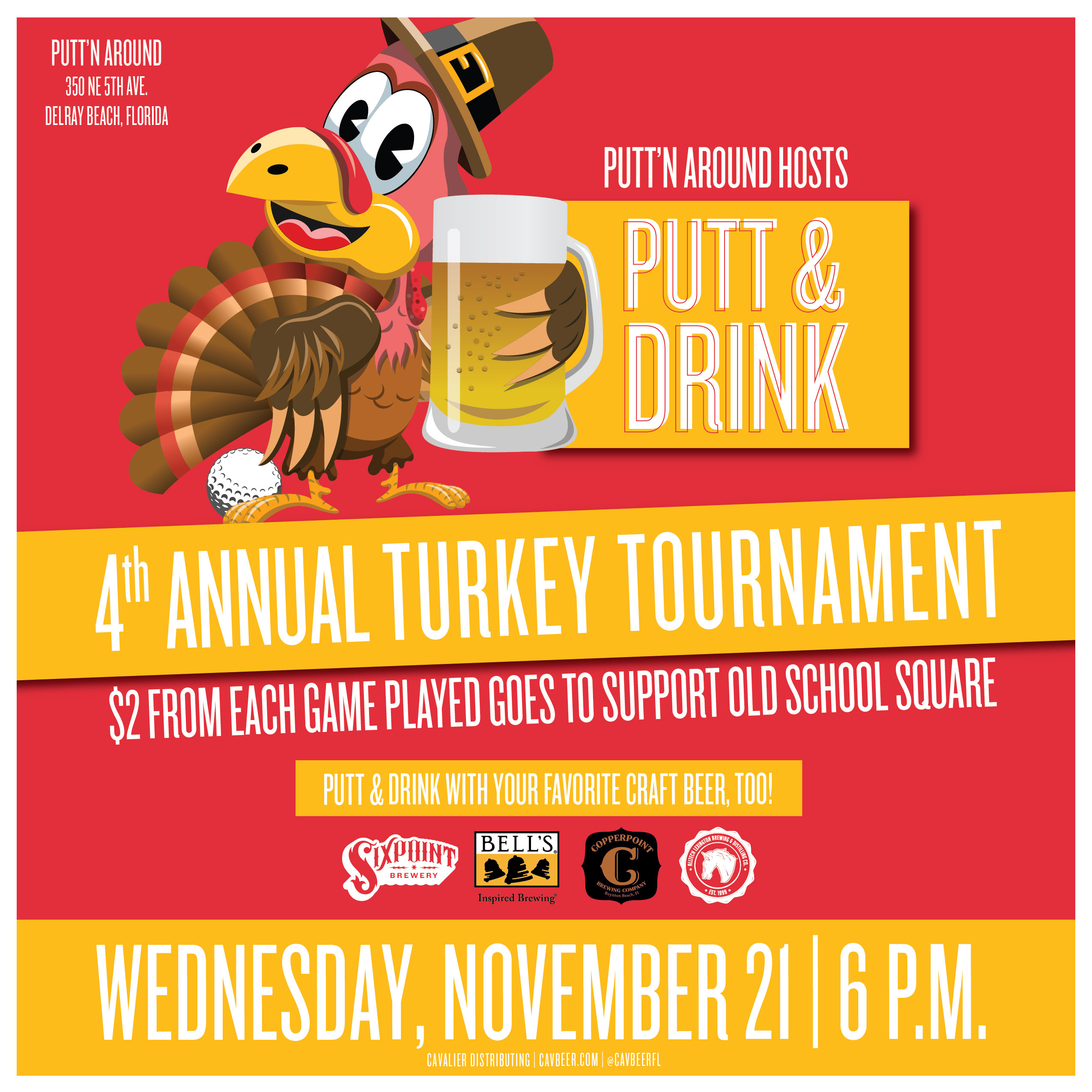 4th Annual Turkey Tournament at Putt'n Around