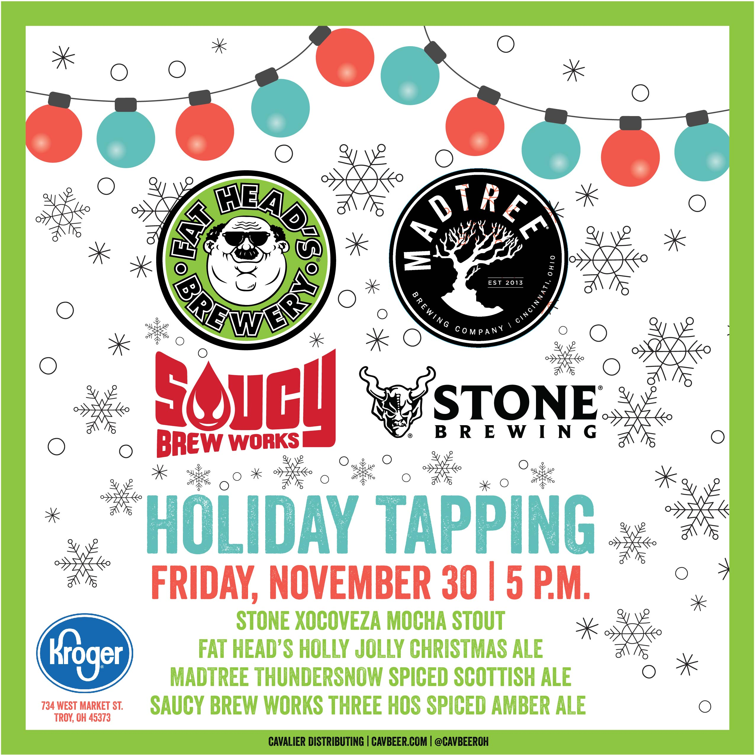 Holiday Tapping Event @ Troy Ohio's Kroger