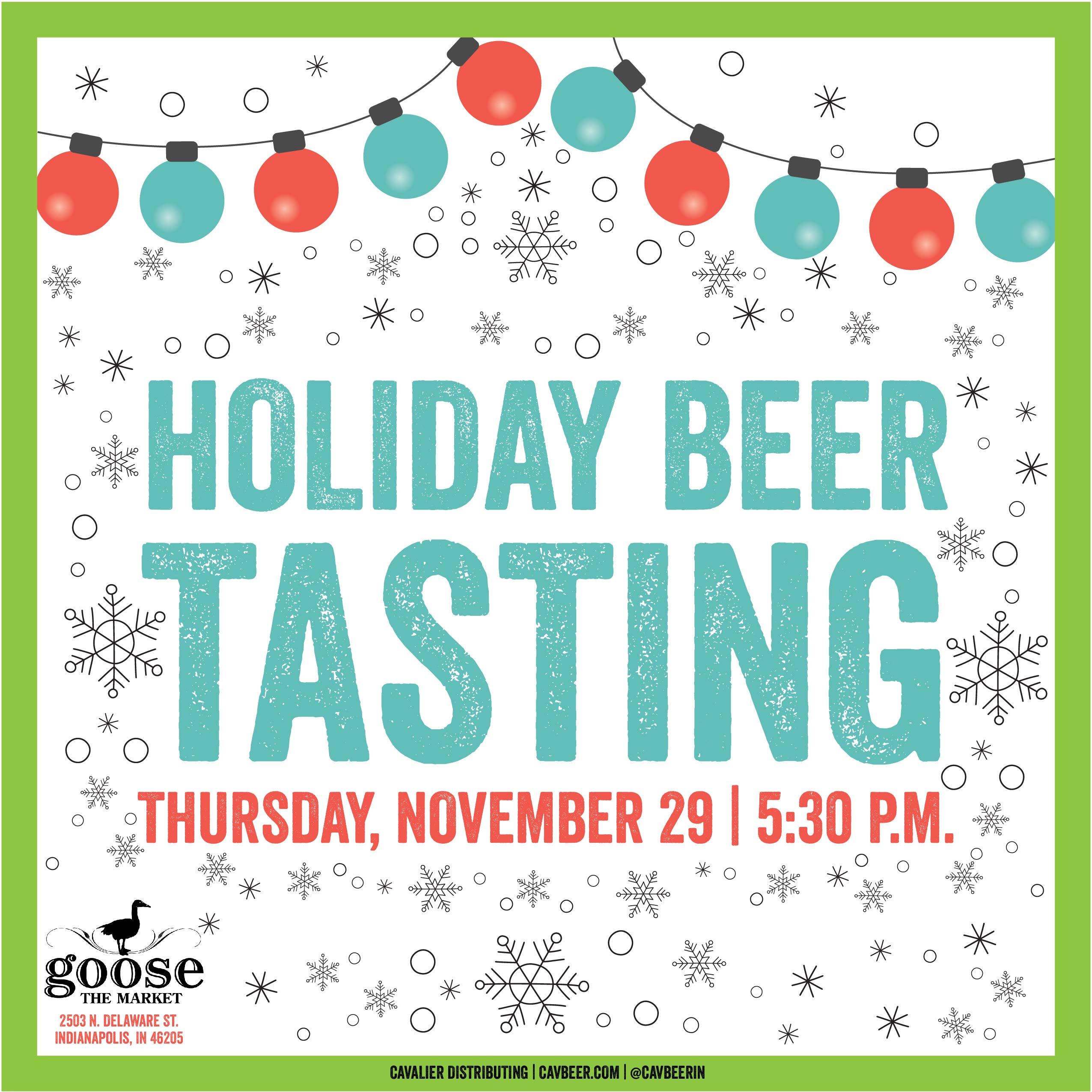 Holiday Beer Tasting @ Goose the Market