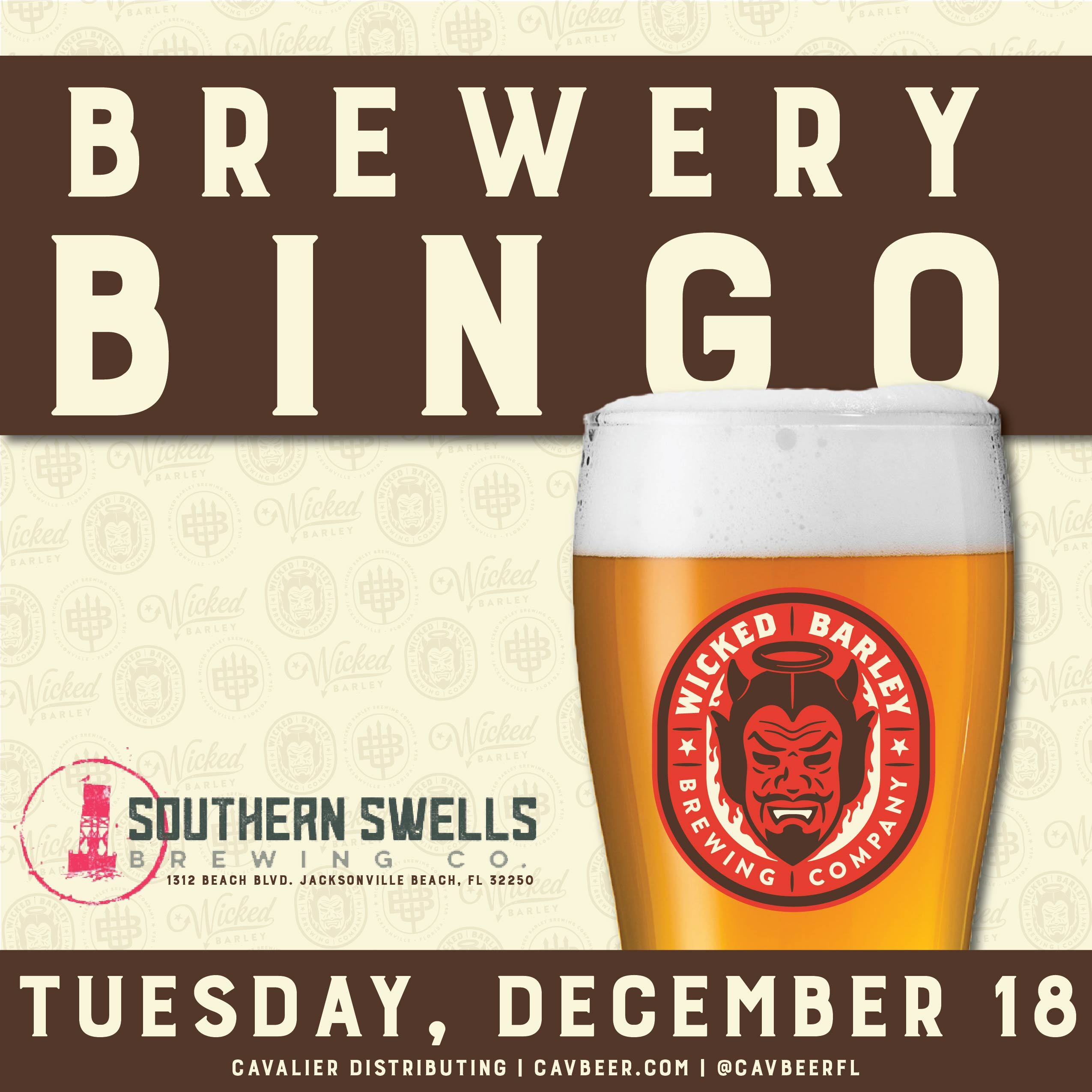 Brewery Bingo with Wicked Barley Brewing Company @ Southern Swells Brewing Co.