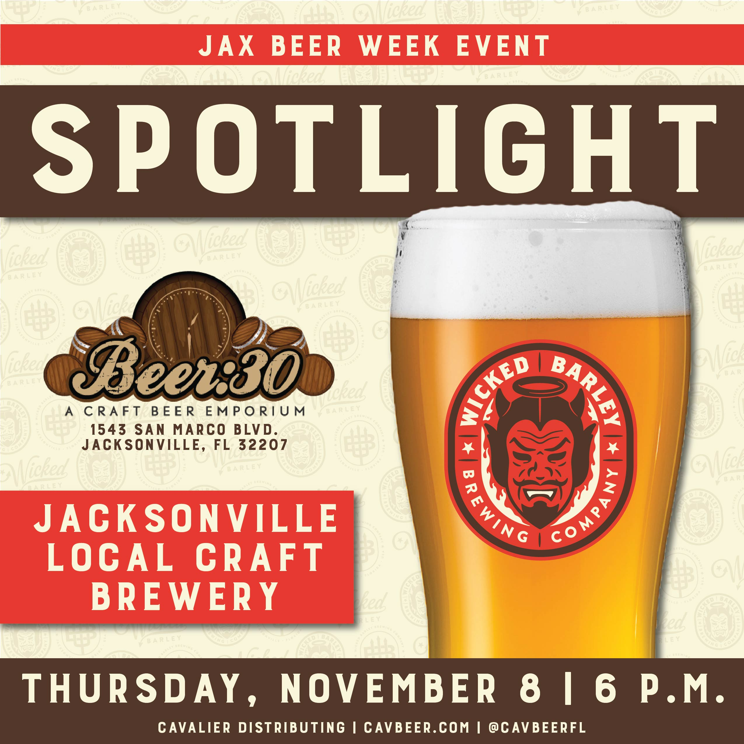 Jacksonville Beer Week: Beer:30 Brewery Spotlight – Wicked Barley Brewing Company