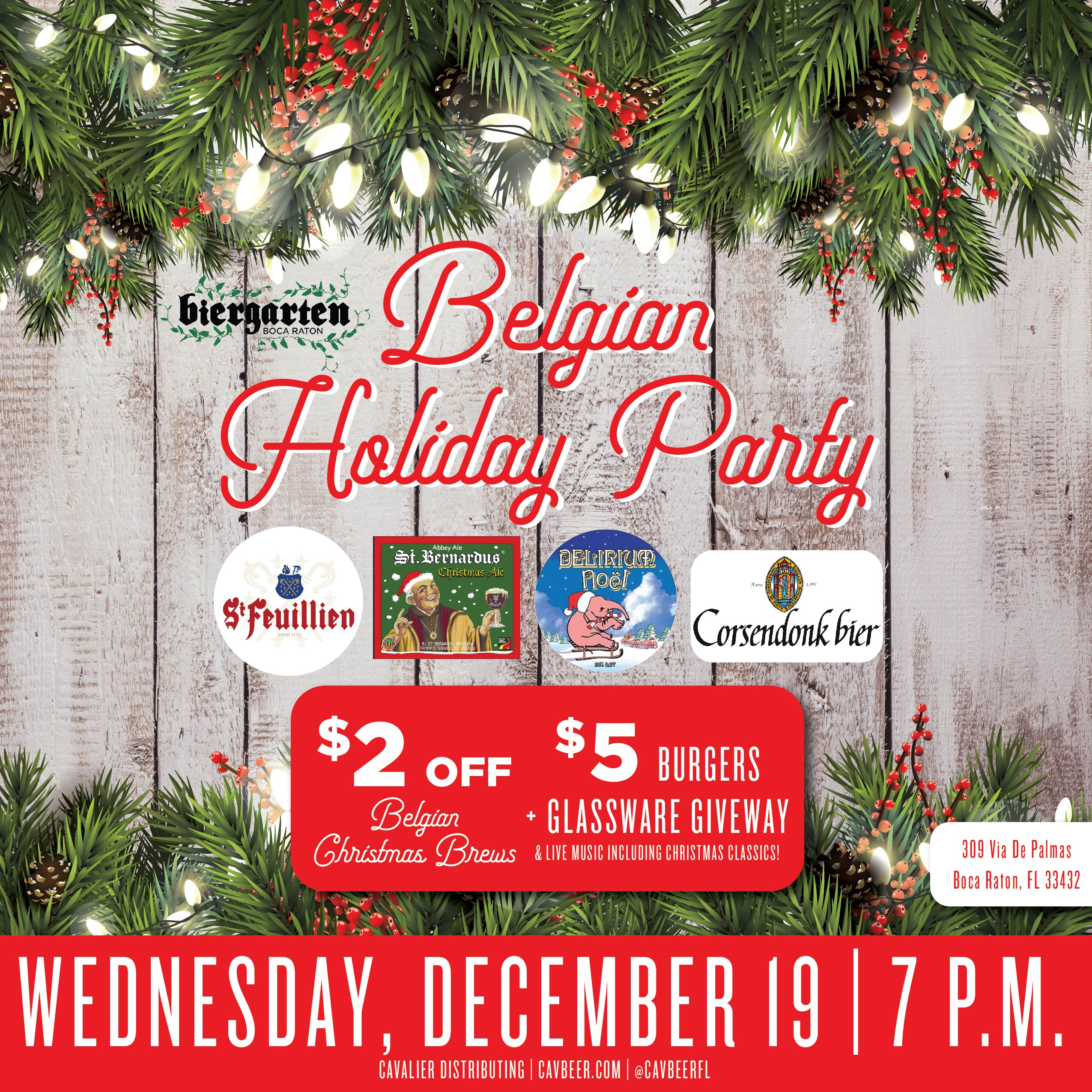 Belgian Holiday Party @ Biergarten Boca Raton