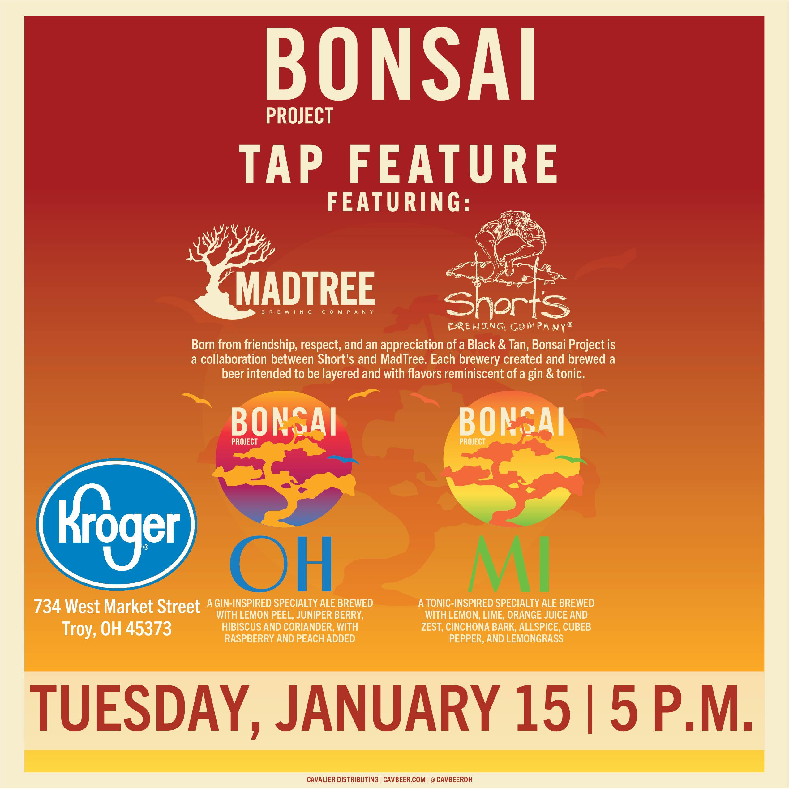 MadTree & Short's Bonsai Project Tap feature @ Kroger Troy, OH