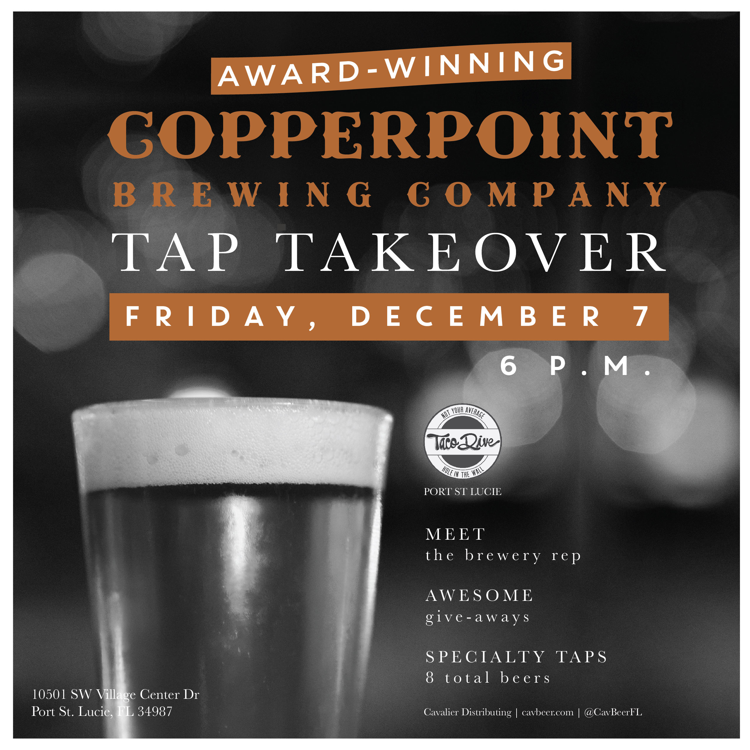 Copperpoint Brewing Tap Takeover @ Taco Dive