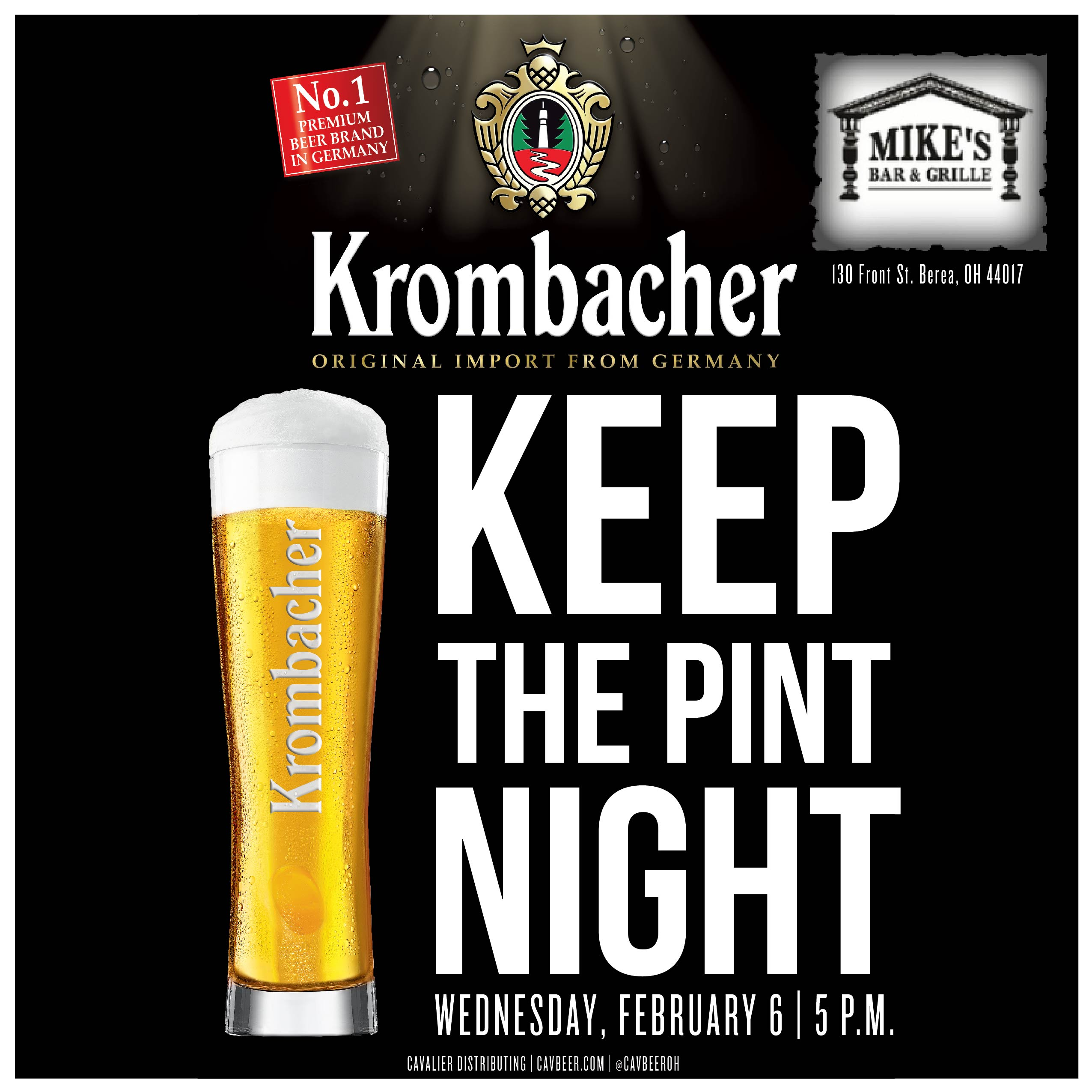 Krombacher Keep the Pint Night @ Mike's Bar & Grille