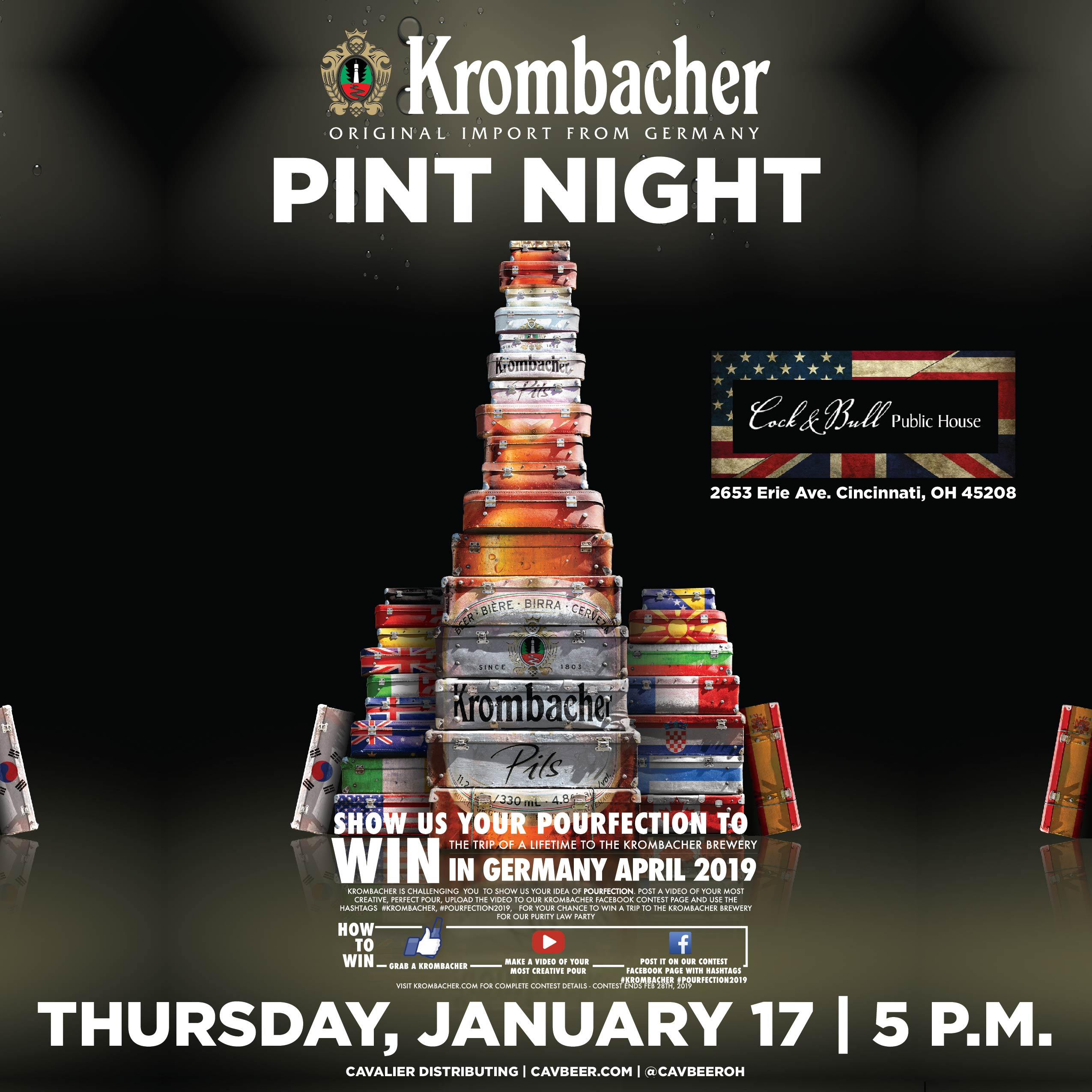 Krombacher Pint Night @ Cock & Bull Public House