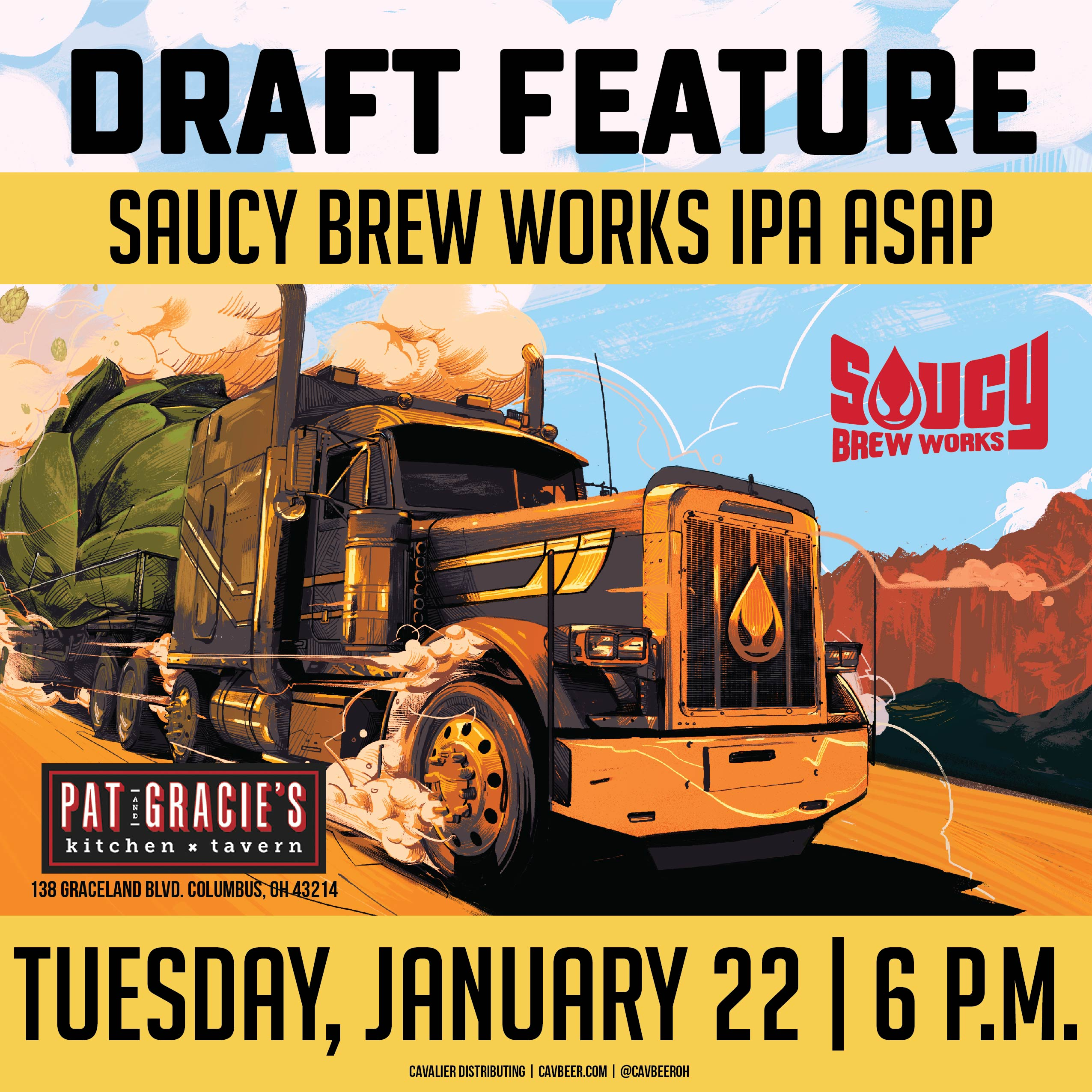 Saucy Brew Works Tap Feature @ Pat & Gracie's