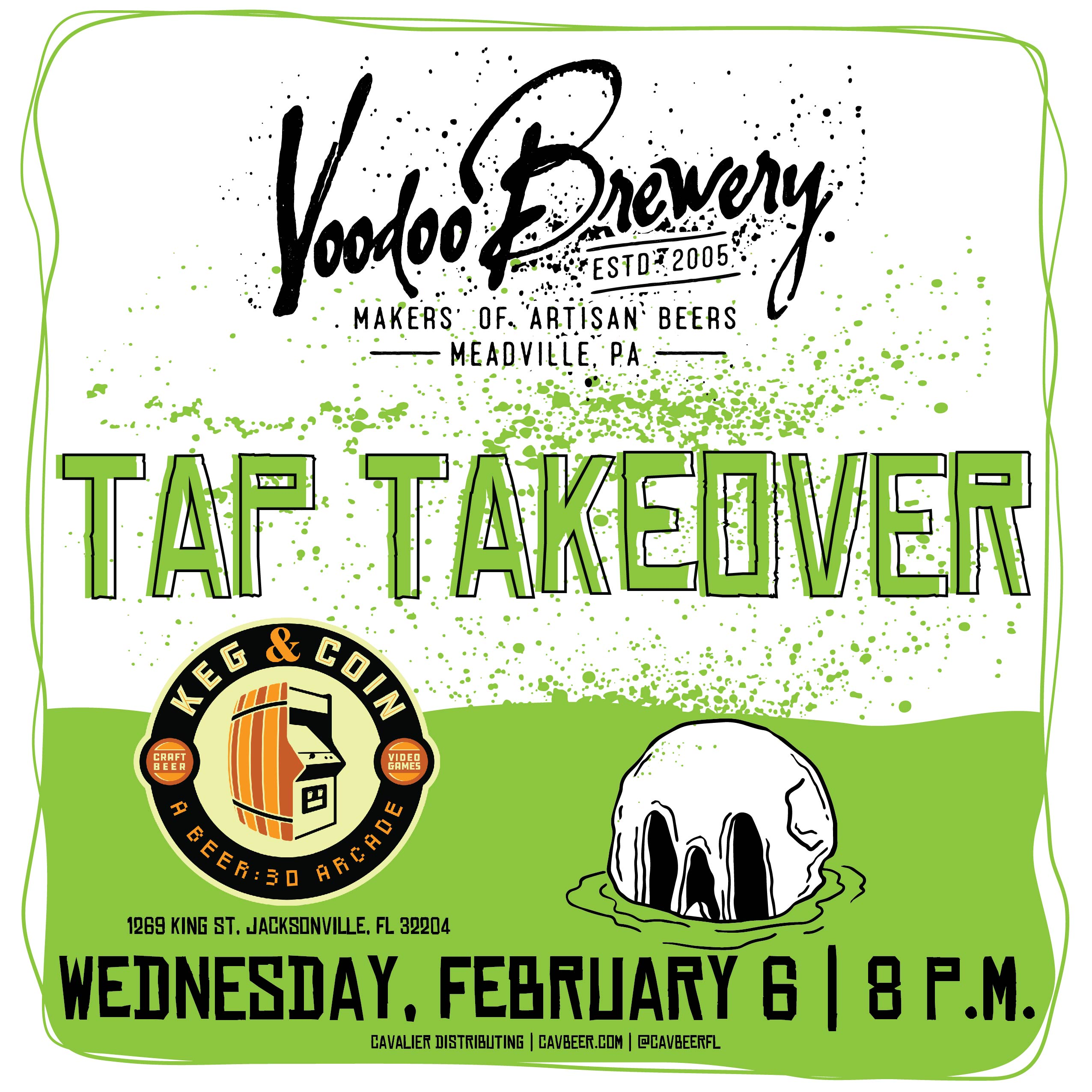 Voodoo Brewery Tap Takeover @ Keg & Coin