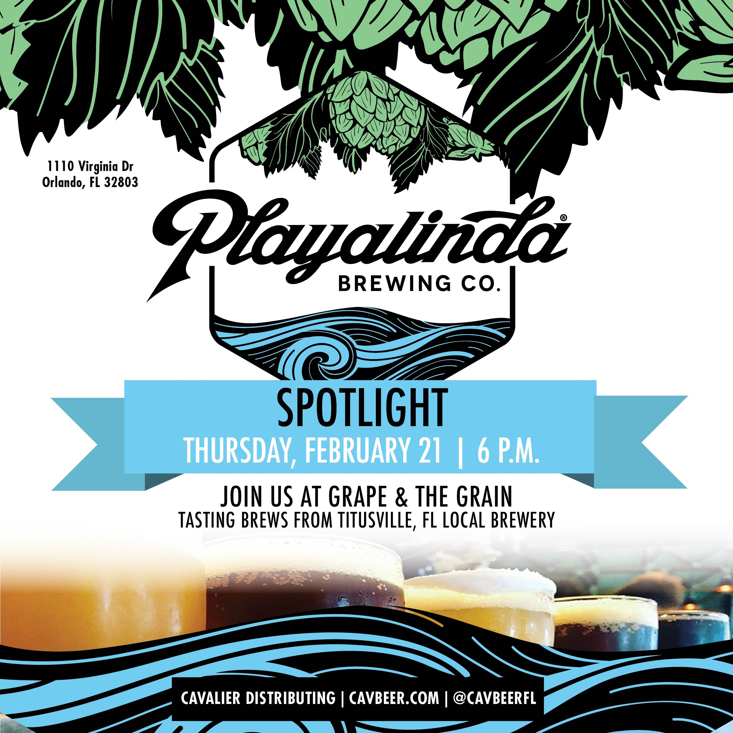 Playalinda Brewing Co. @ Grape & The Grain
