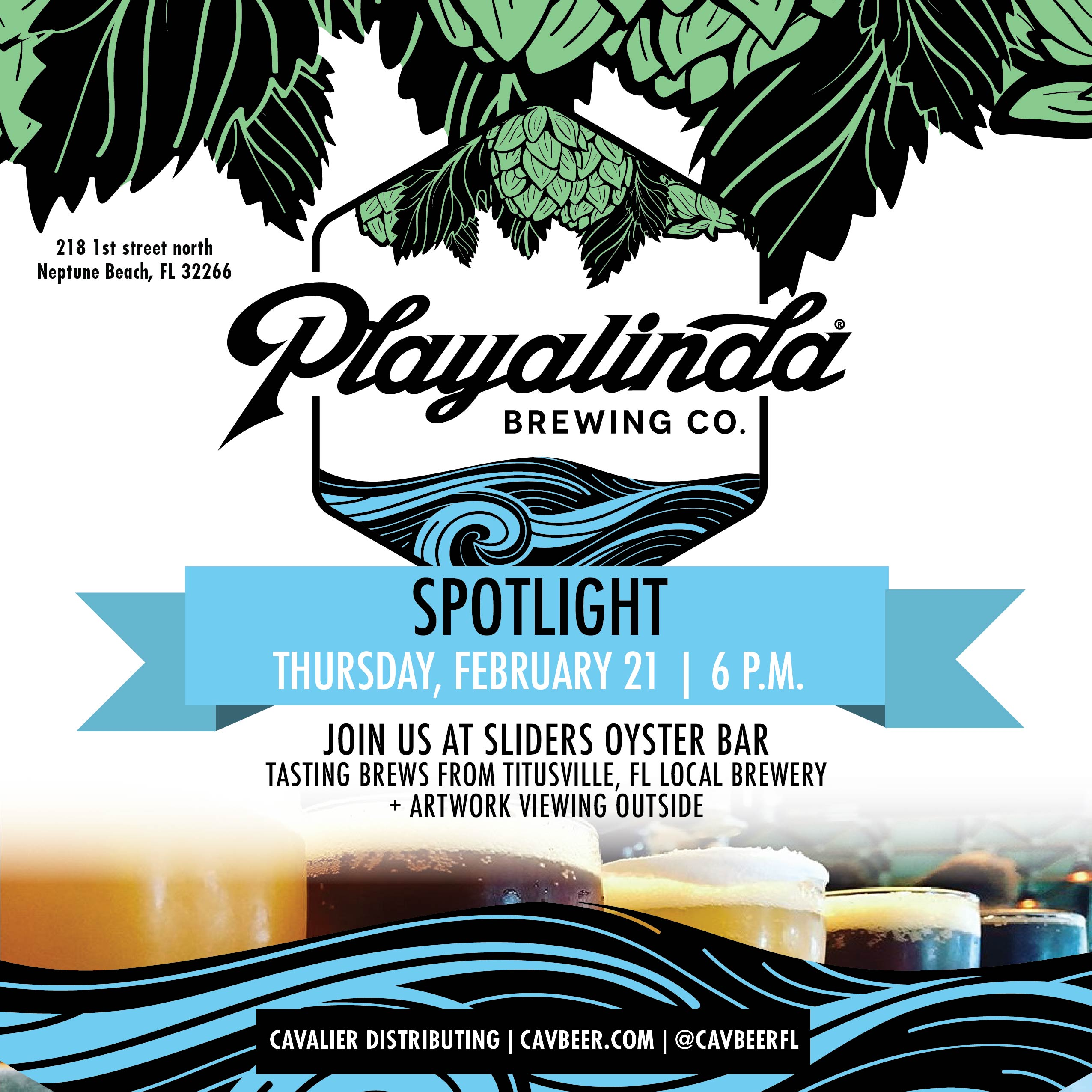 Playalinda Brewing Co. @ Sliders Oyster Bar