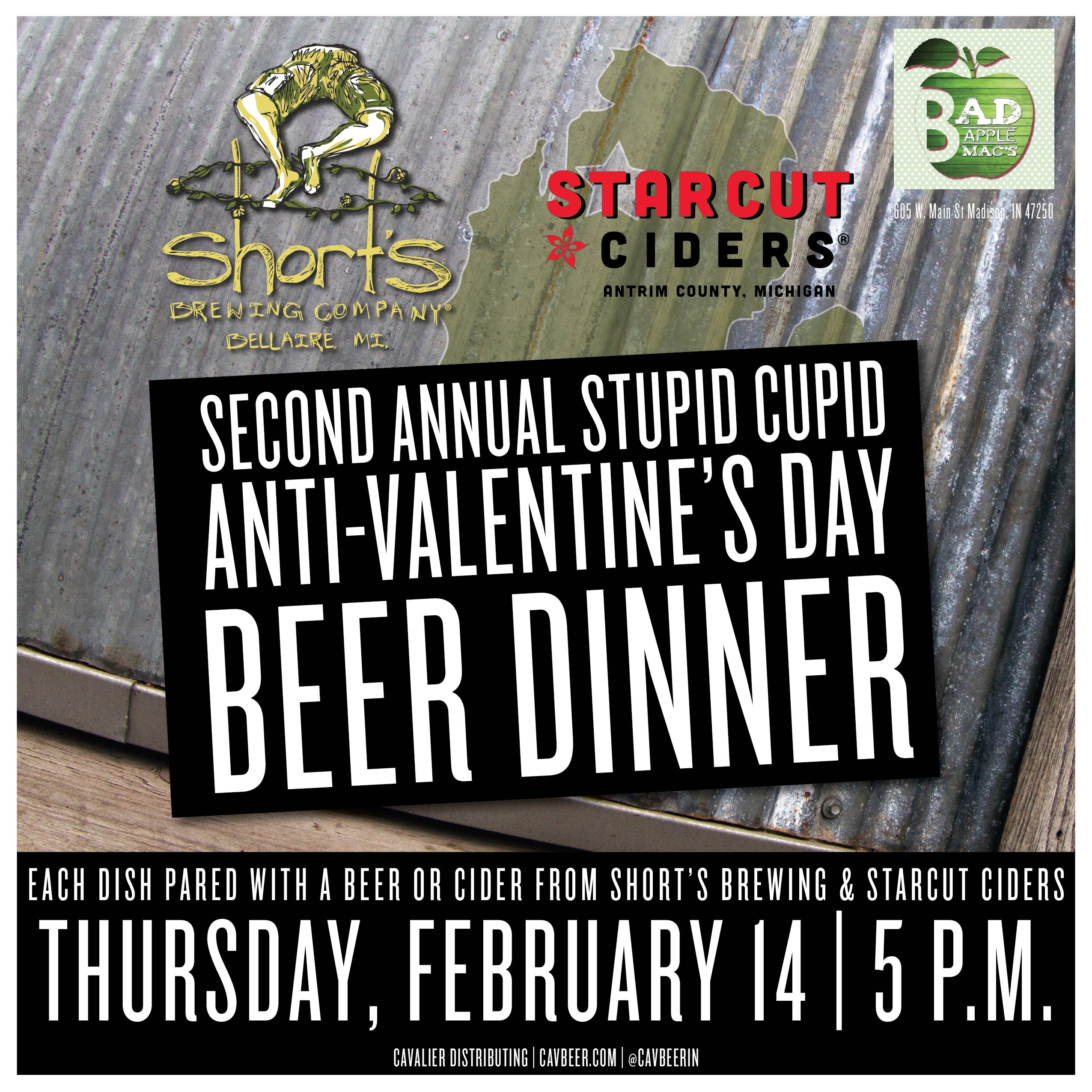 Anti-Valentine's Day Beer Dinner @ Bad Apple Macs