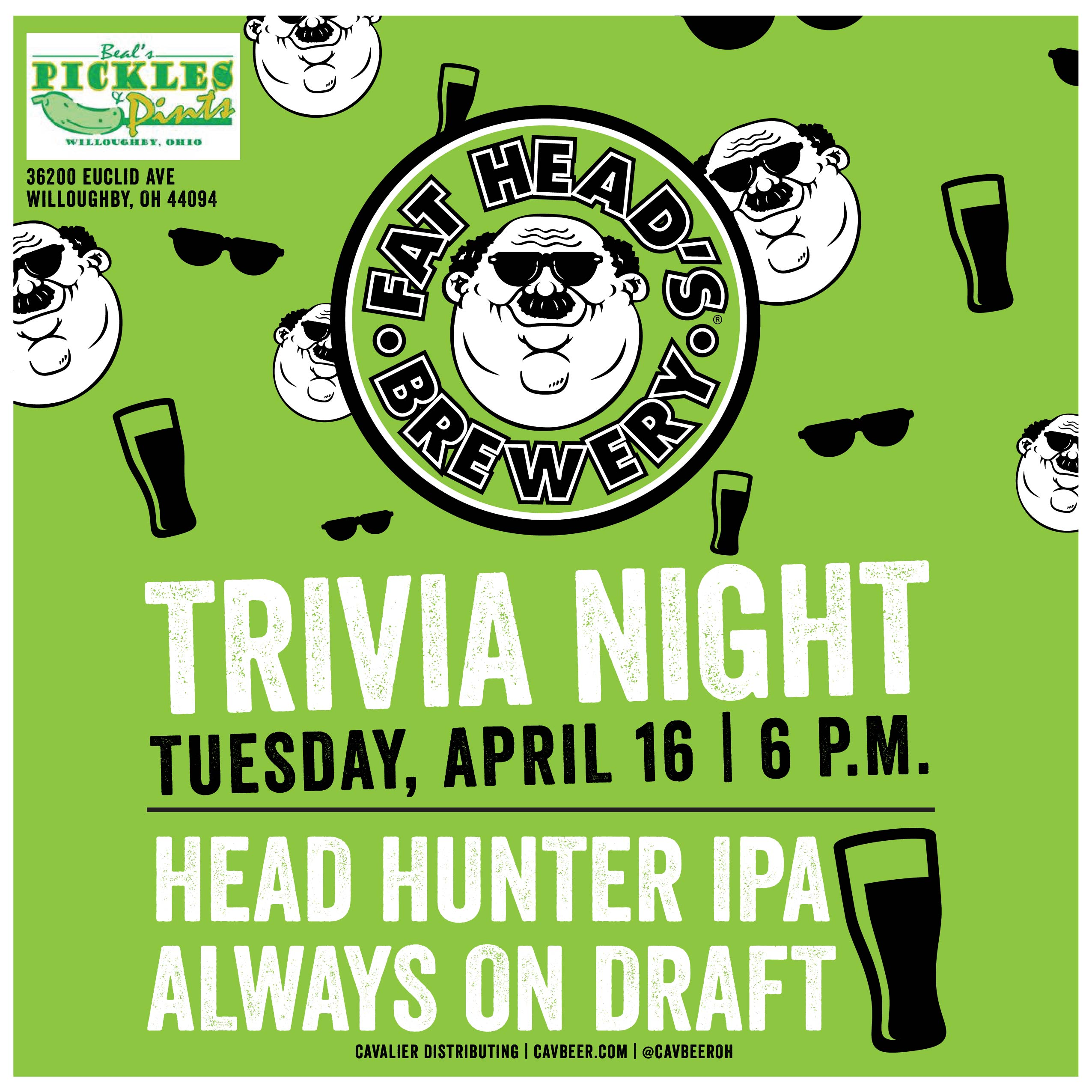 Fat Head's Brewery & Trivia @ Beal's Pickles & Pints