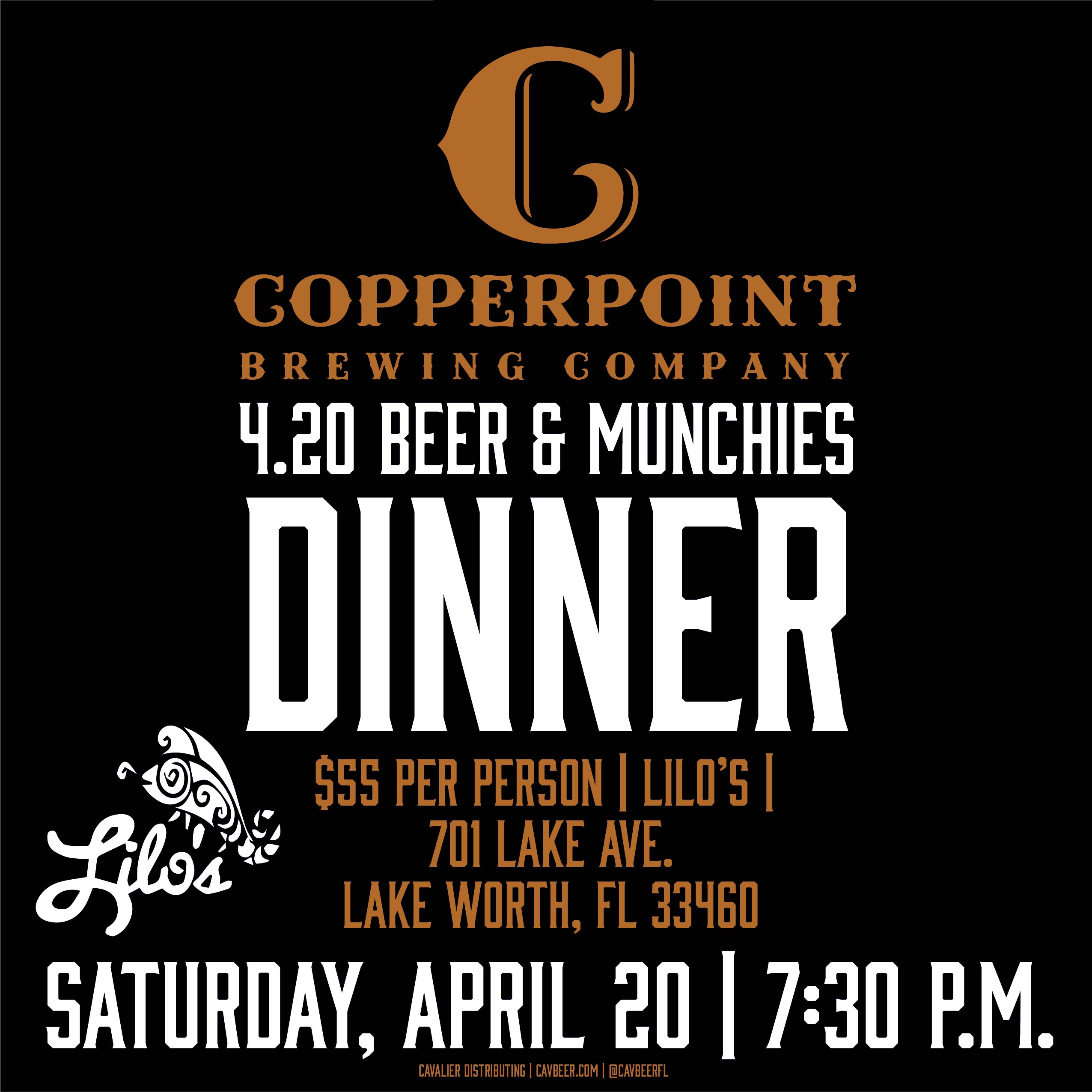Copperpoint Brewing 4.20 Beer Dinner @ Lilo's