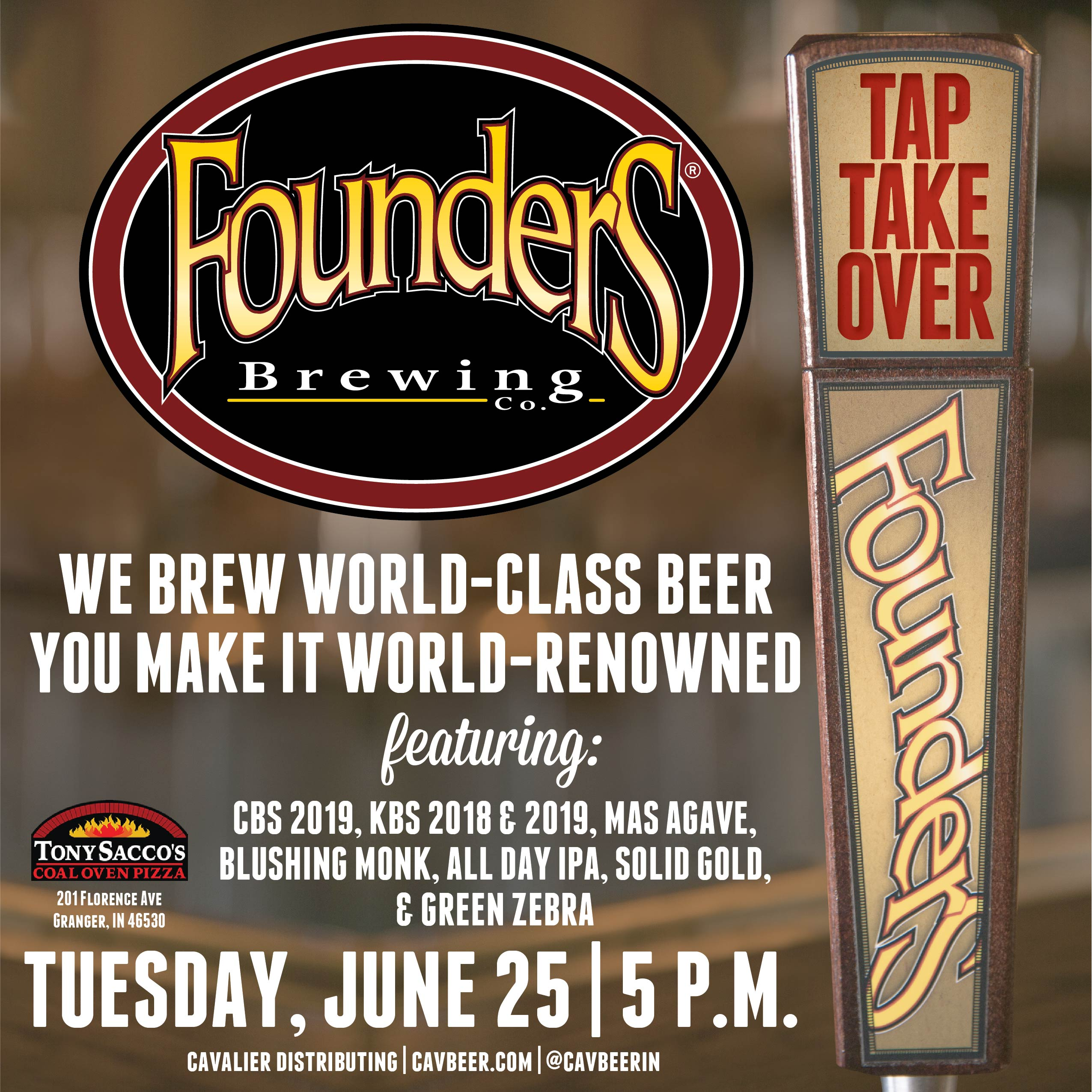 Founder's Tap Takeover @ Tony Sacco's