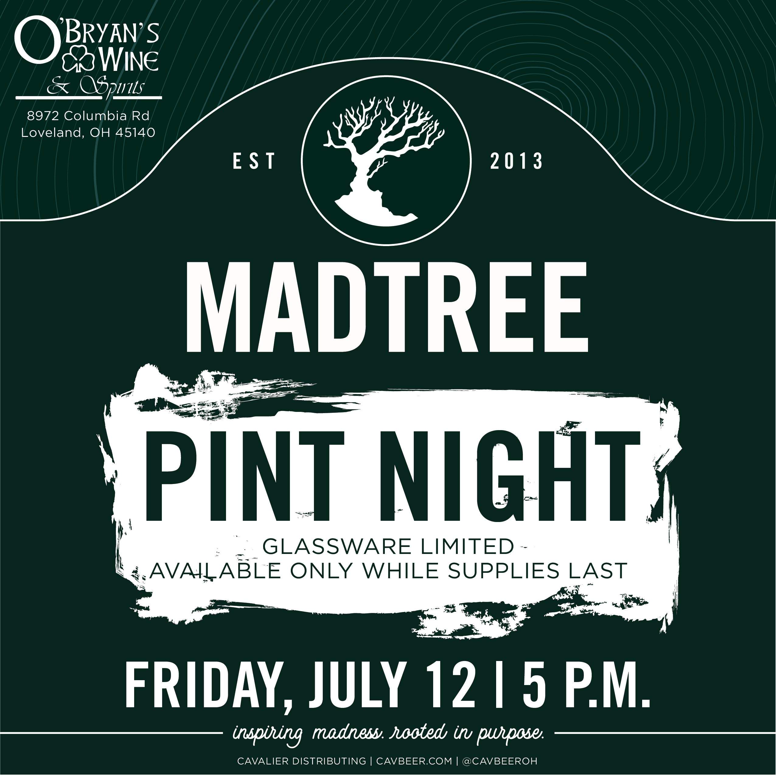 MadTree Pint Night @ O'Bryan's Wine