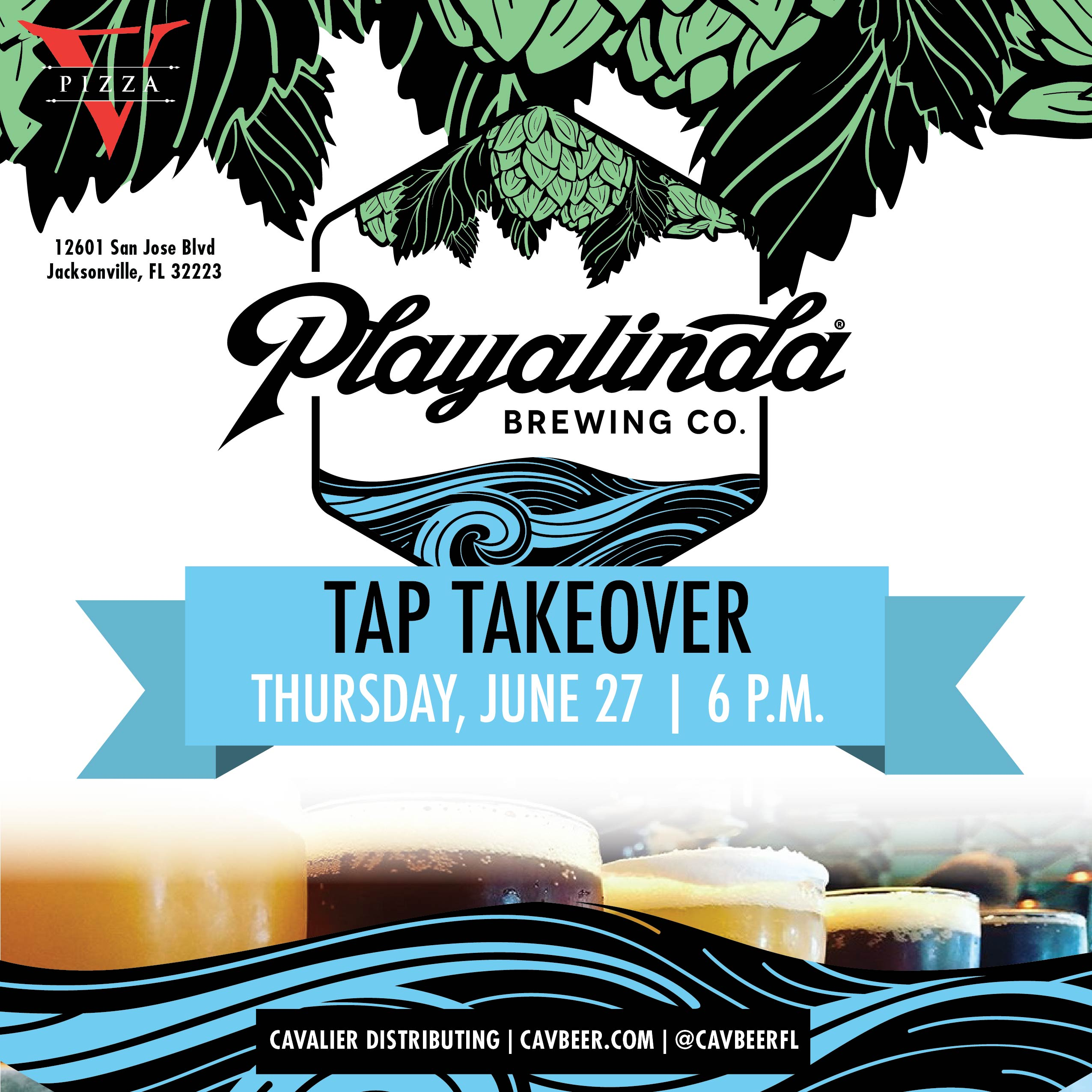 Playalinda Brewing Tap Takeover @ V Pizza