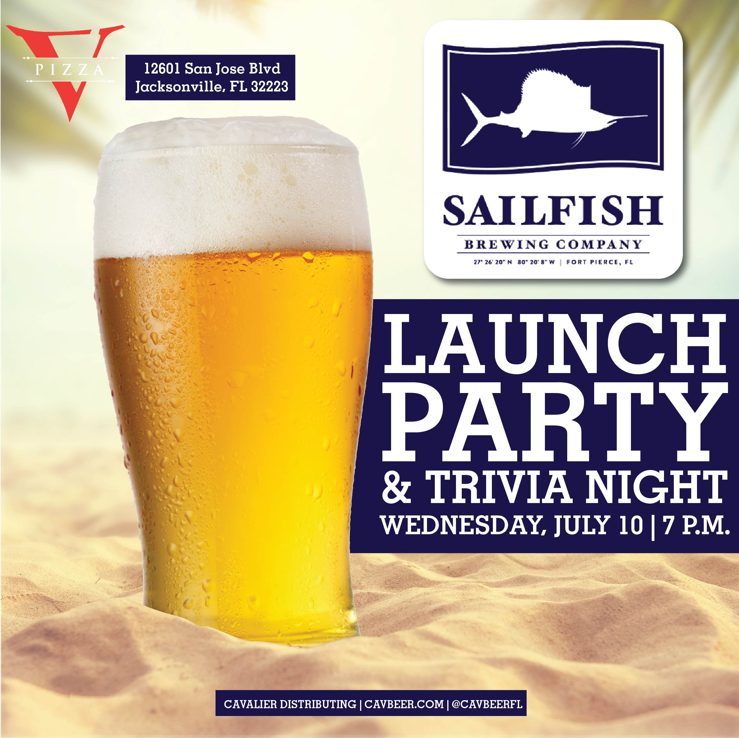Sailfish Brewing Launch Party @ V Pizza