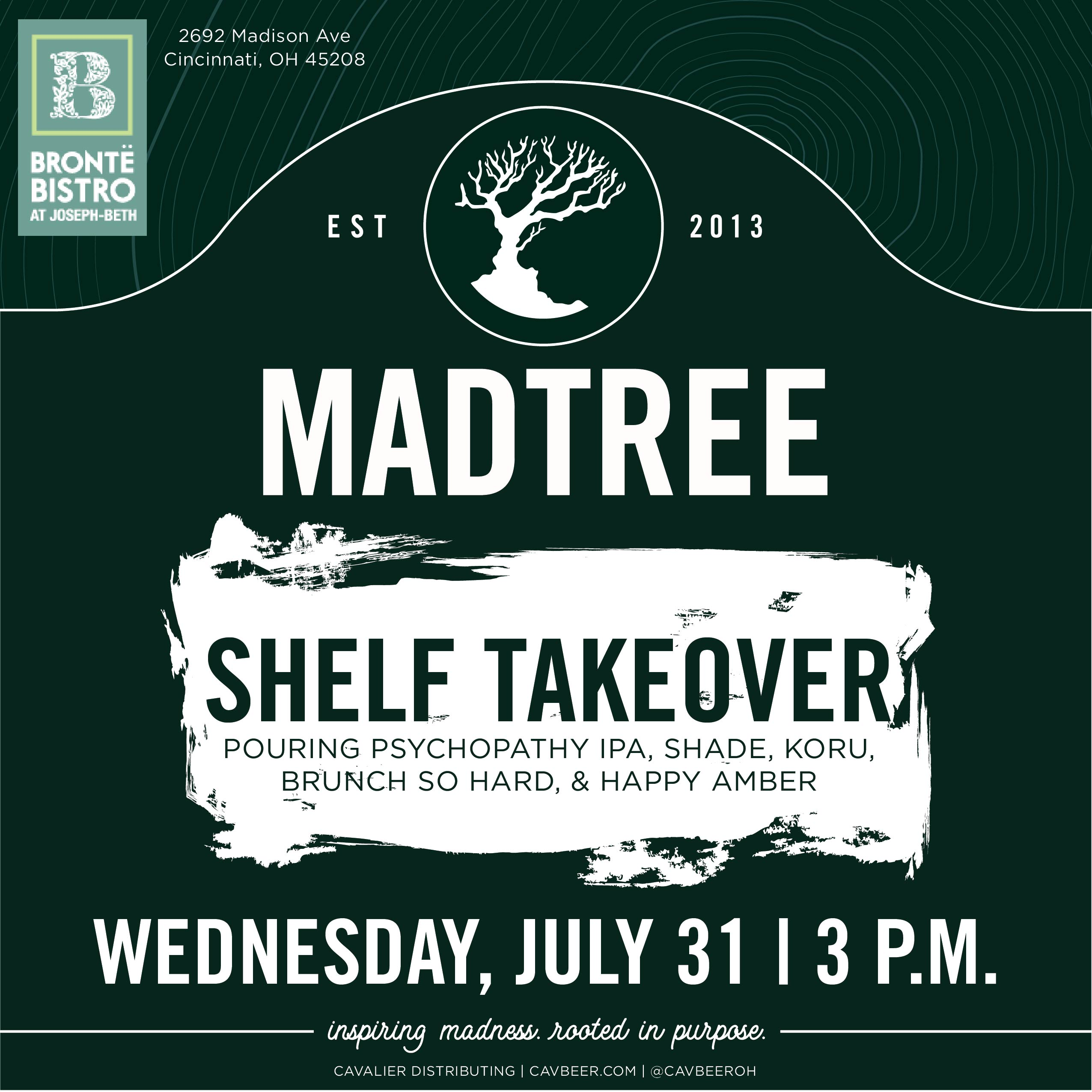 MadTree Shelf Takeover @ Bronte Bistro