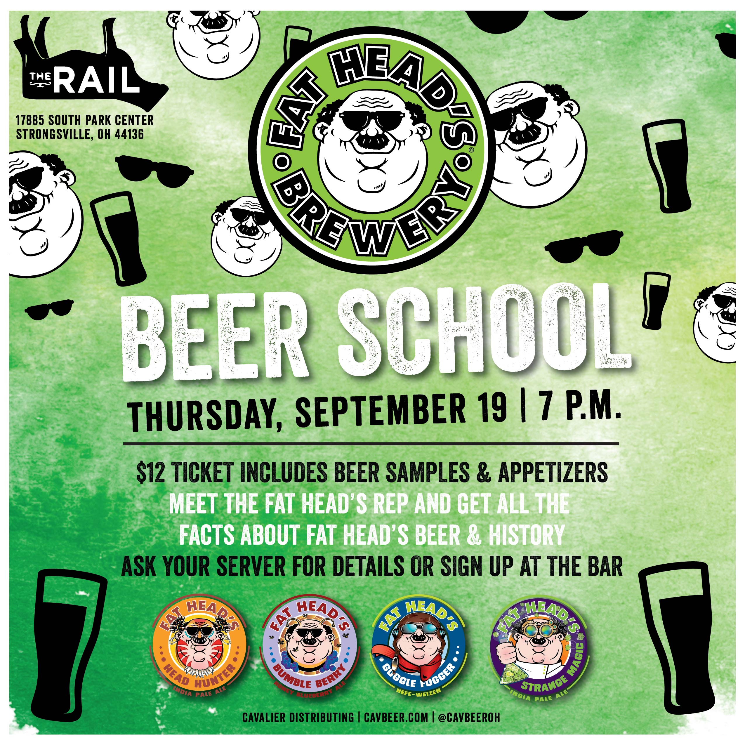 Fat Head's Beer School @ The Rail