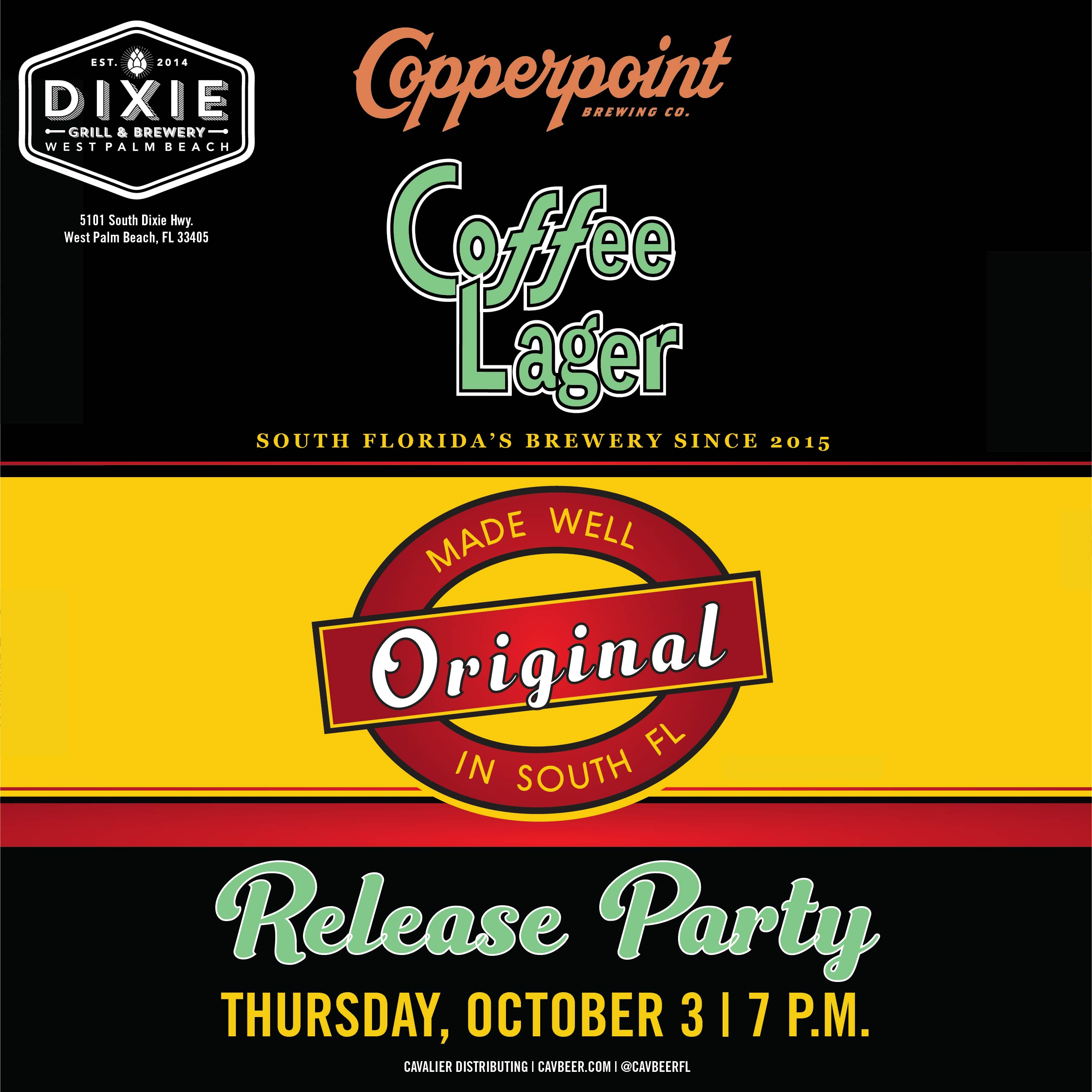 Copperpoint Release Party @ Dixie Grill & Brewery