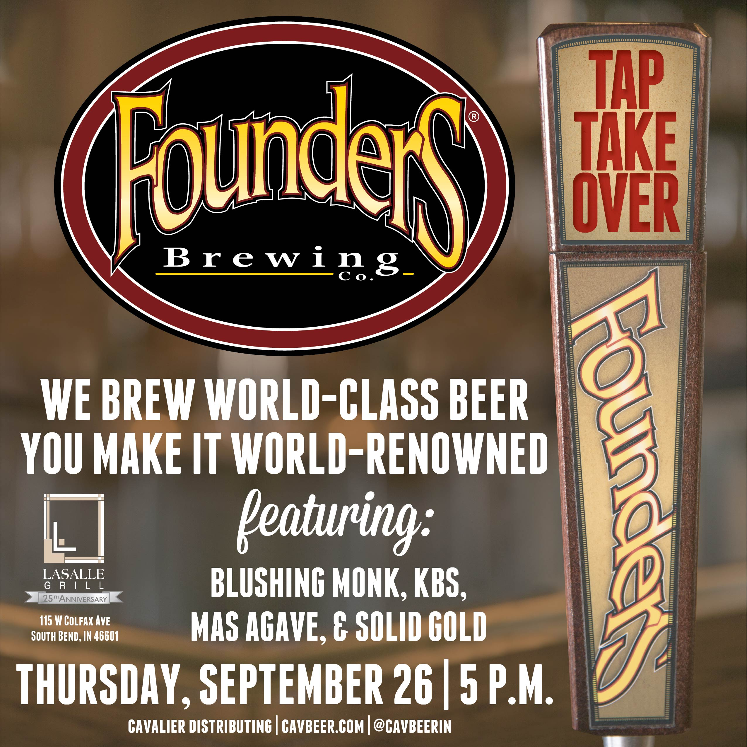 Founders Tap Takeover @ Lasalle Grill