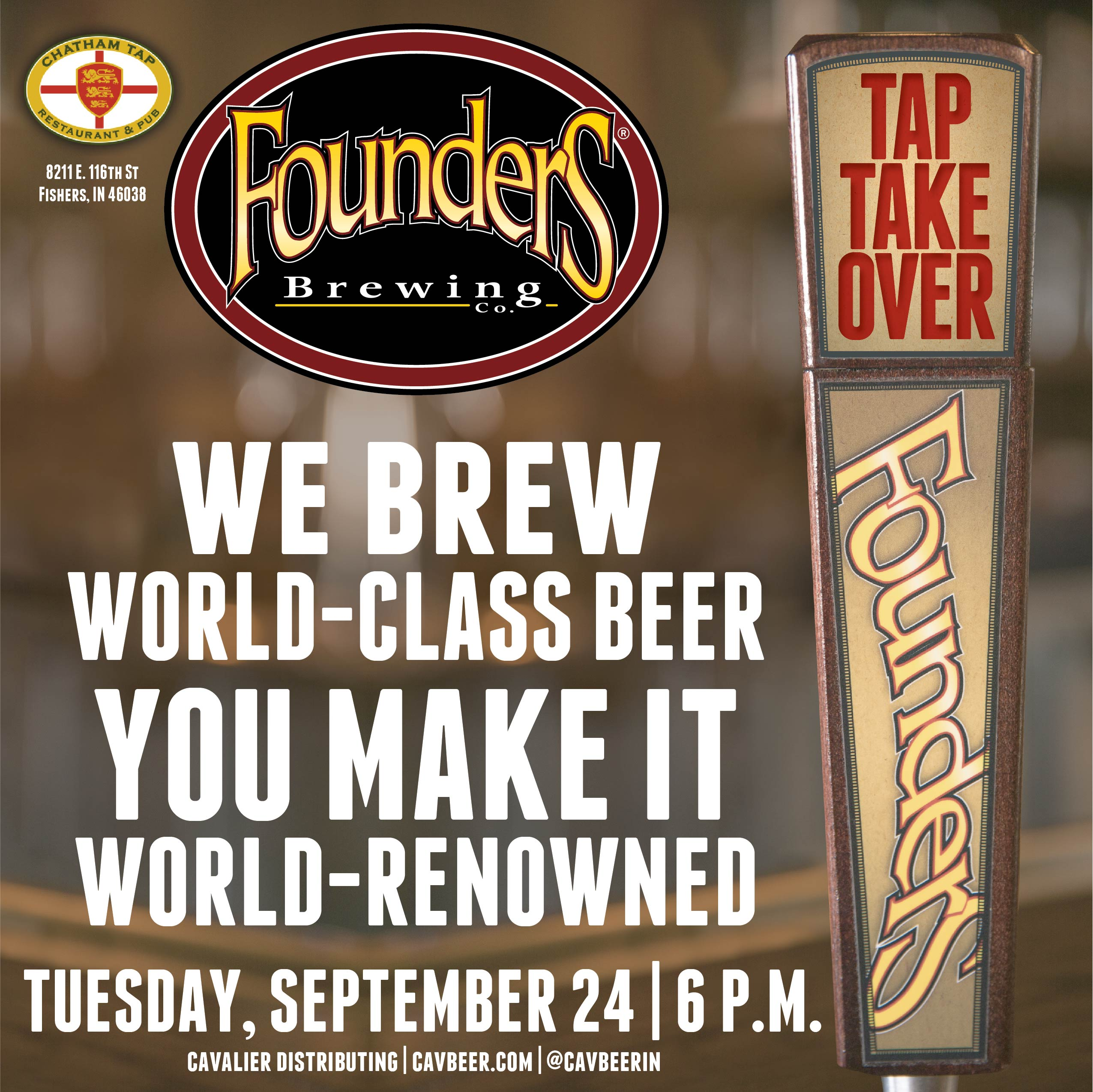 Founders Tap Takeover @ Chatham Tap
