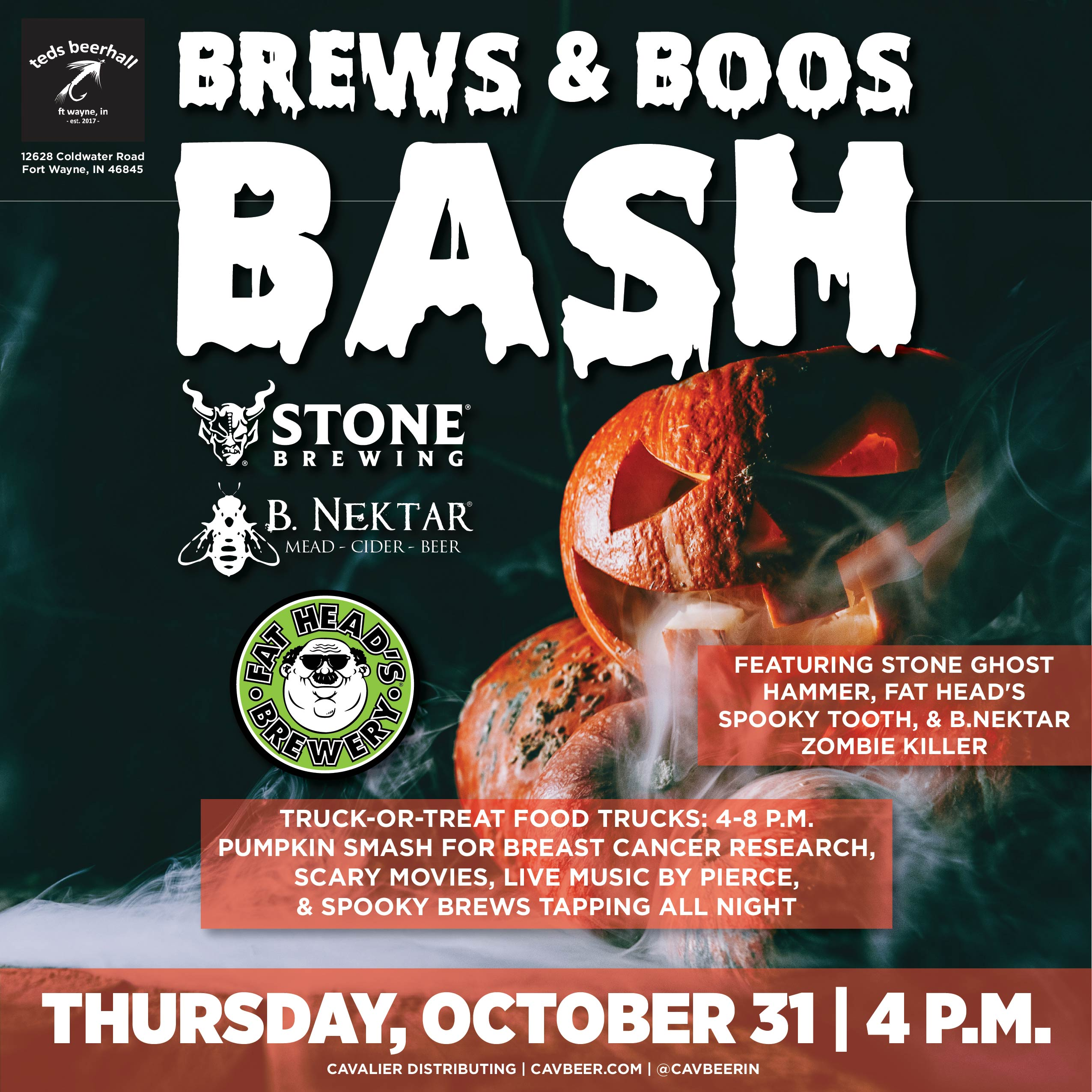 Brews & Boos Bash @ Teds Beerhall