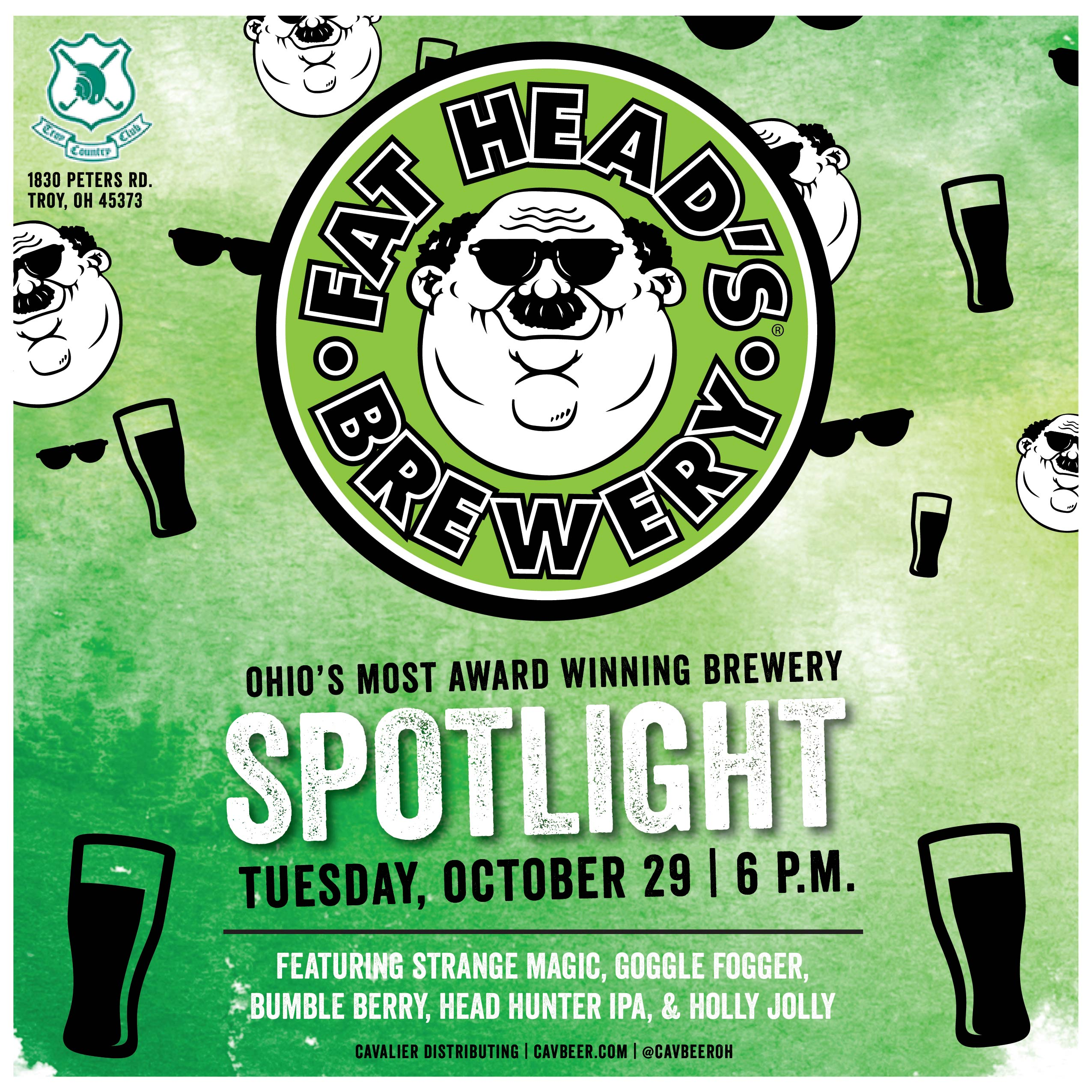 Fat Head's Brewery Spotlight @ Troy Country Club