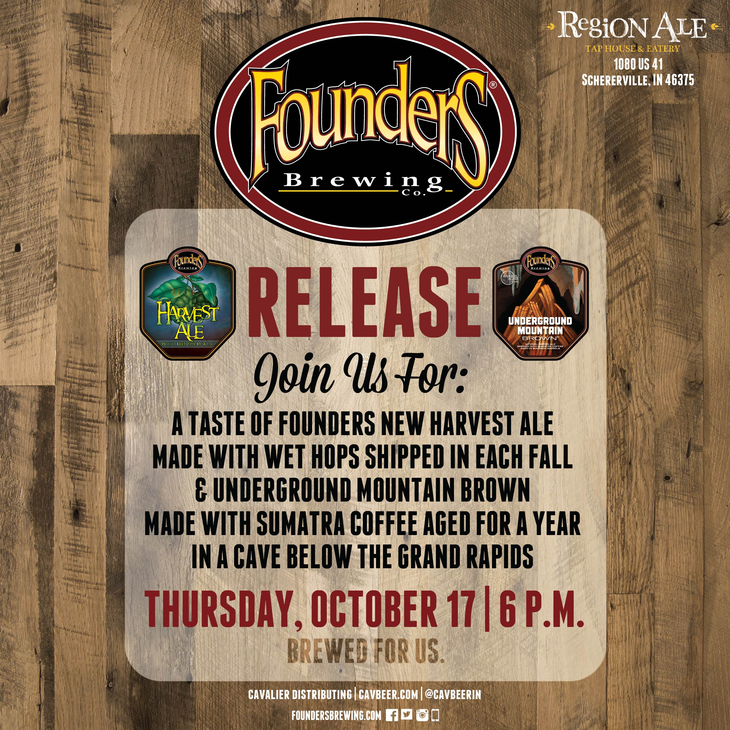 Founders Release @ Region Ale Taphouse & Eatery