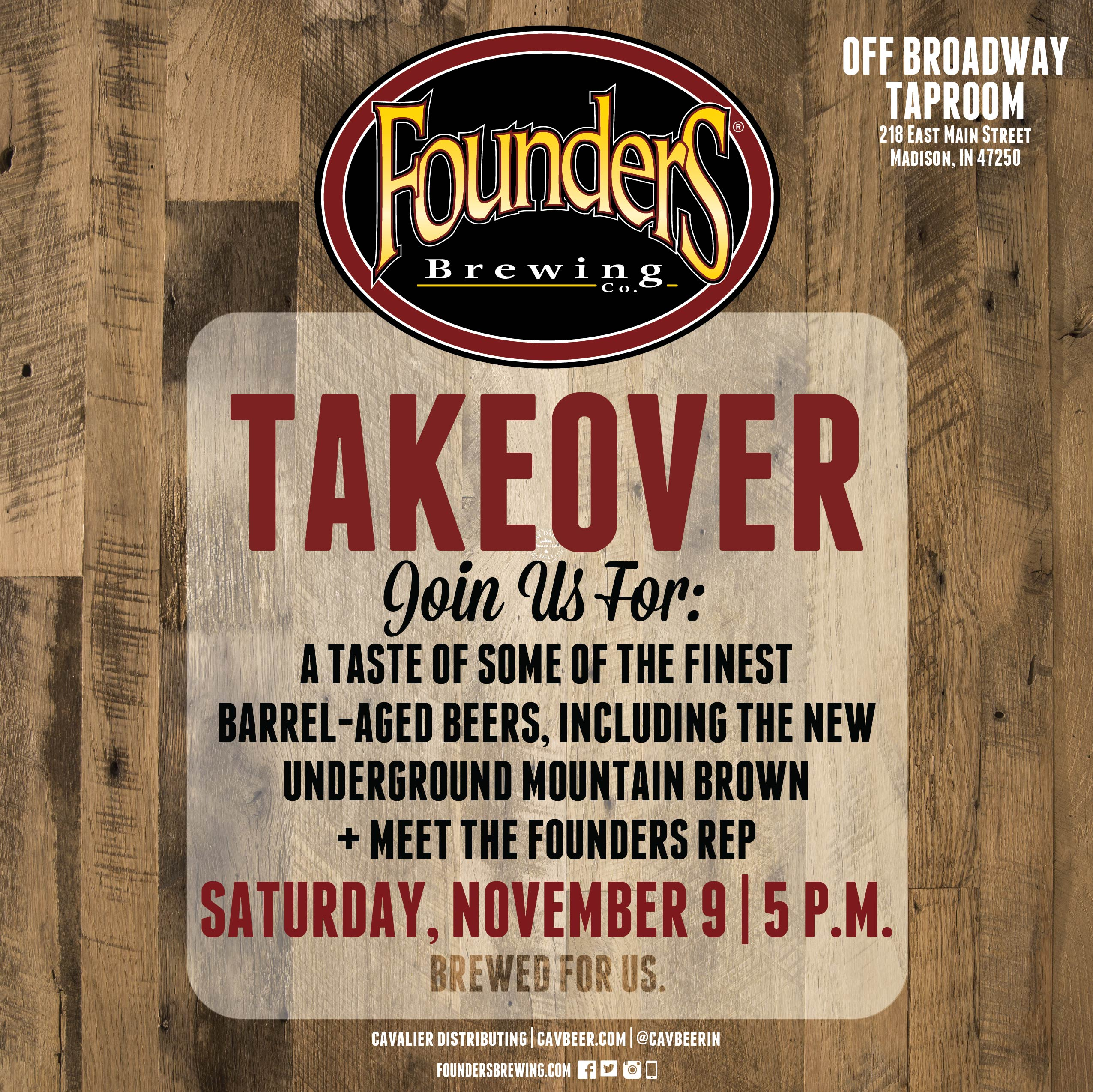 Founders Brewing @ Off Broadway Taproom