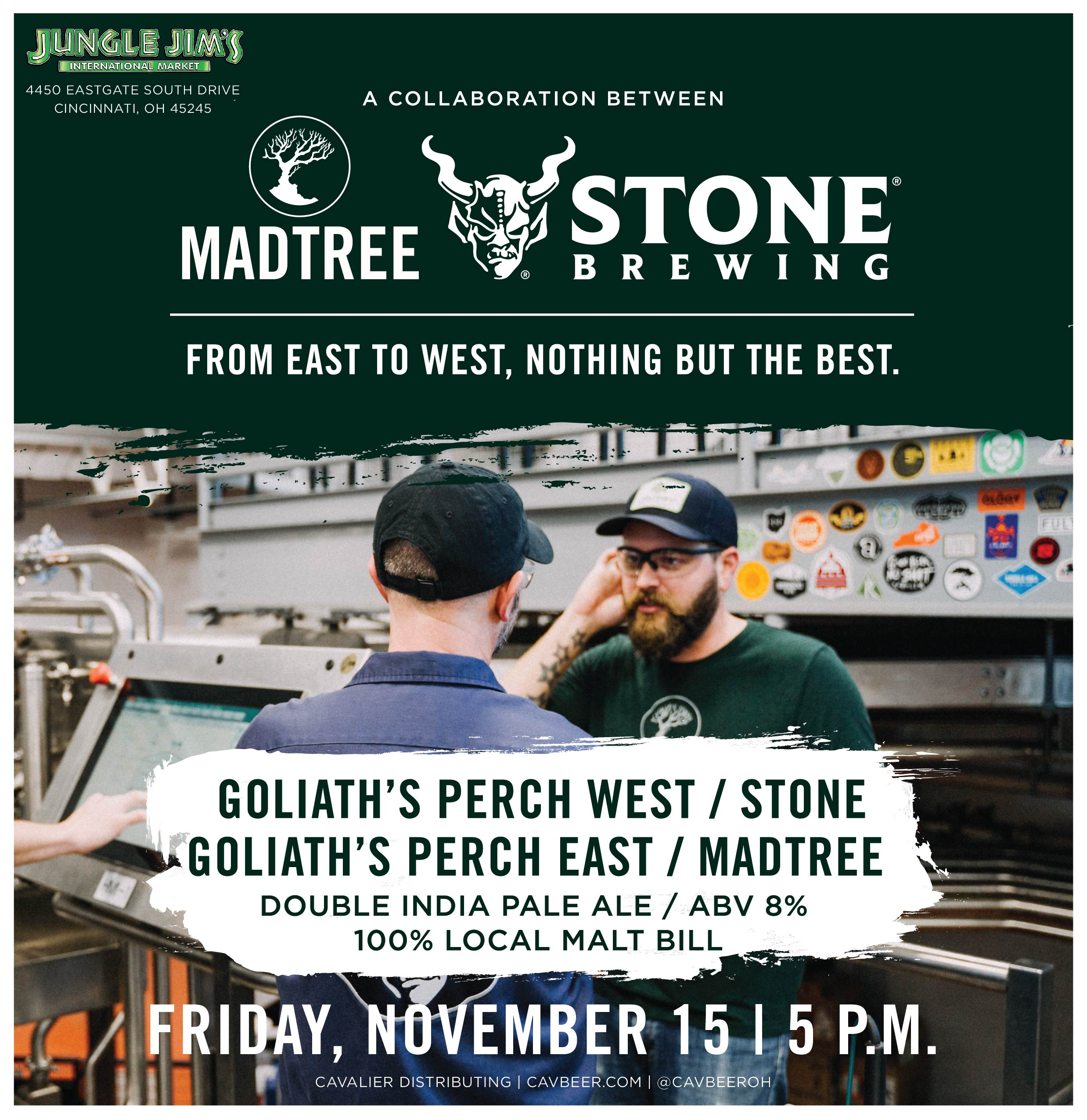 MadTree & Stone Brewing Collab @ Jungle Jim's Eastgate