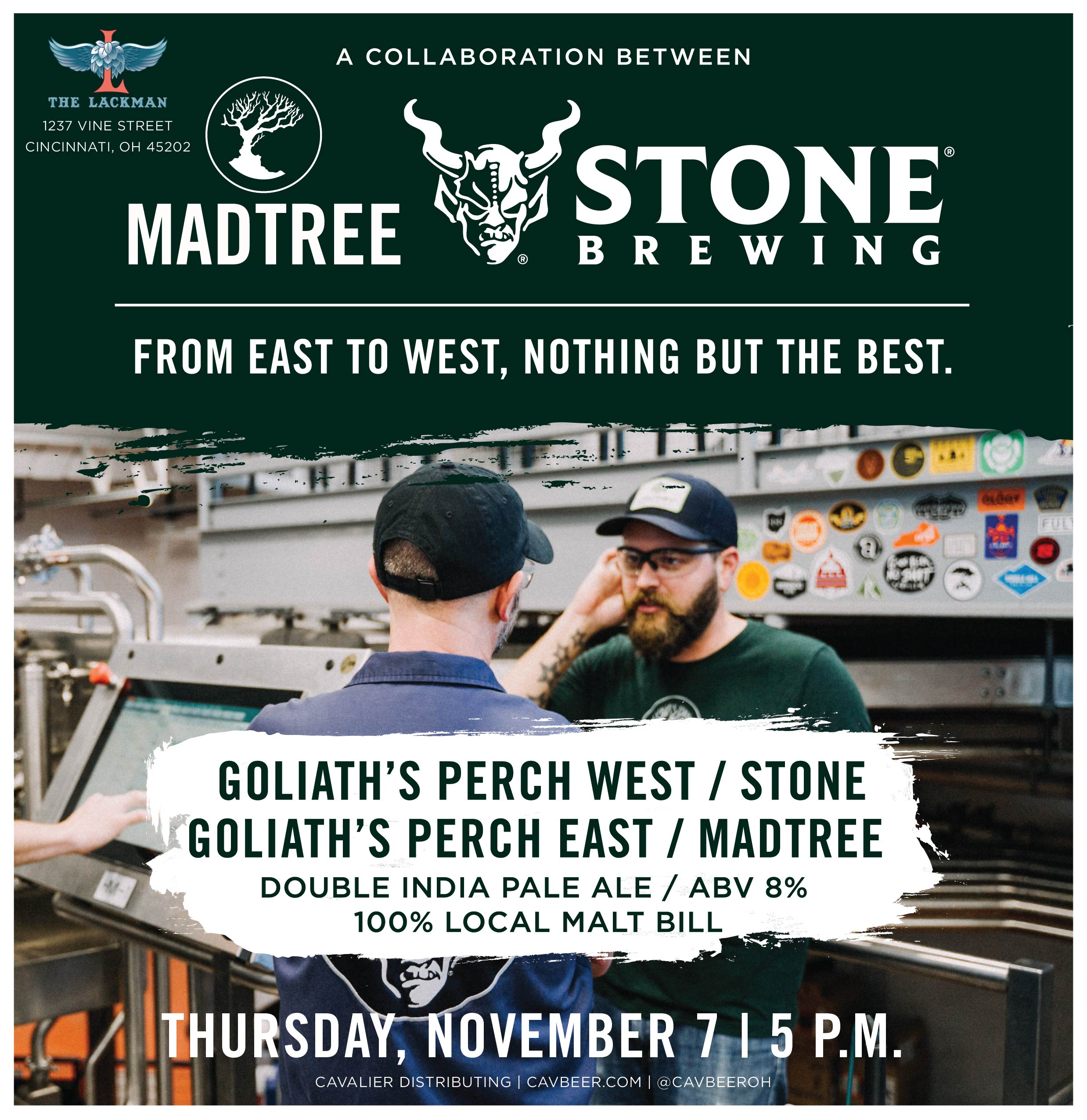 MadTree & Stone Collab @ The Lackman