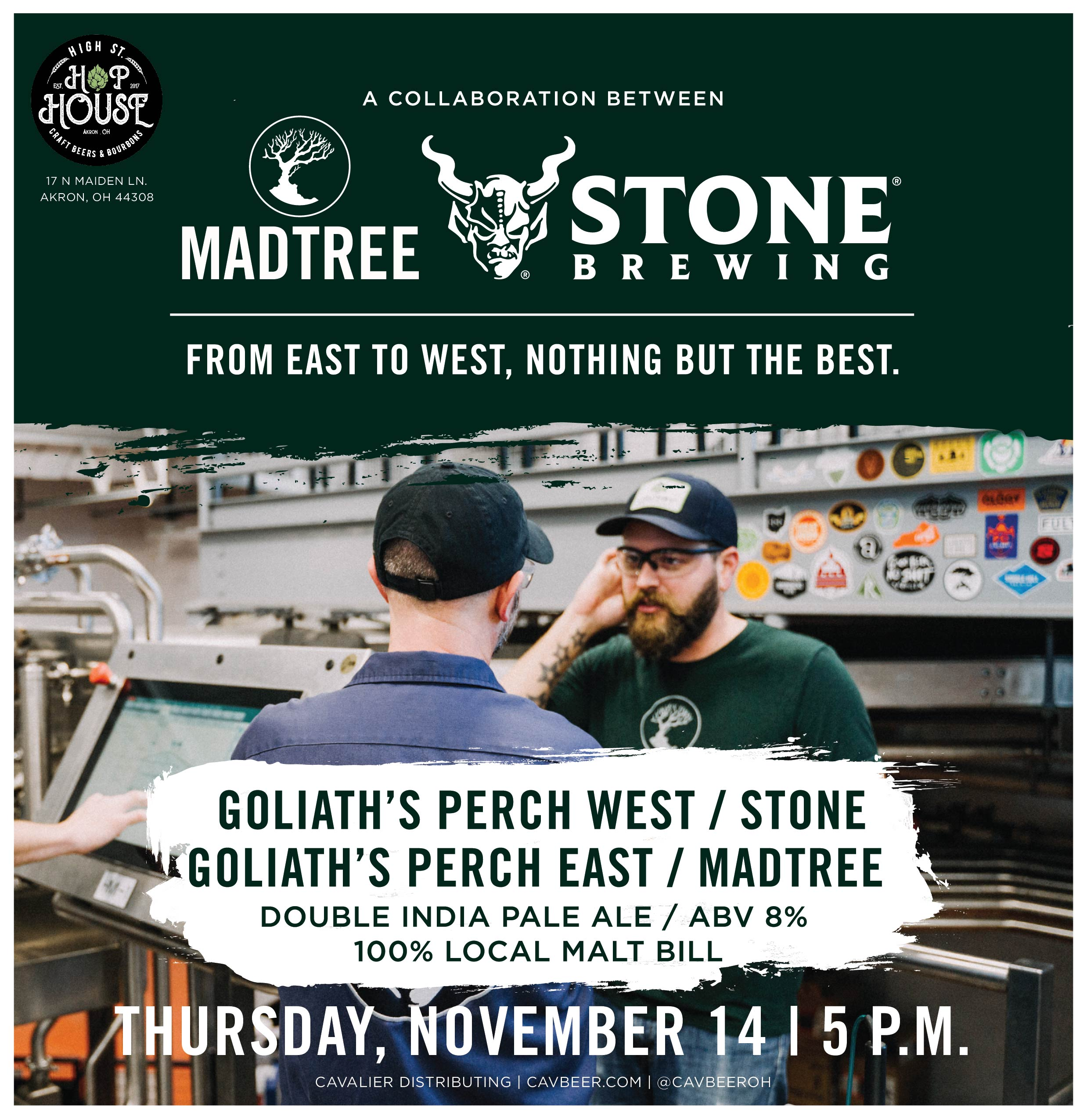 Stone Brewing & MadTree Collab @ Hop House