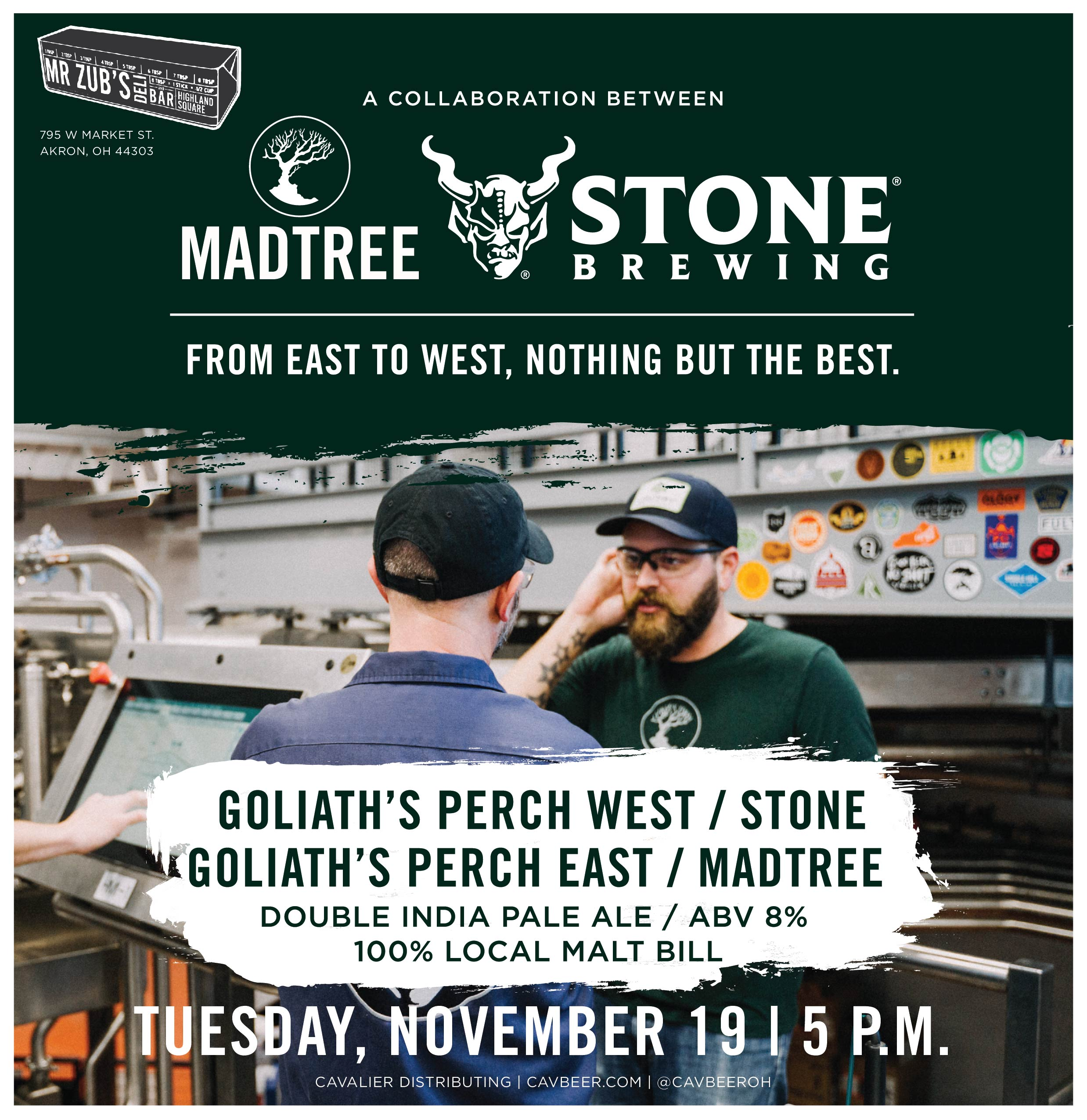MadTree Brewing & Stone Collab @ Mr. Zub's
